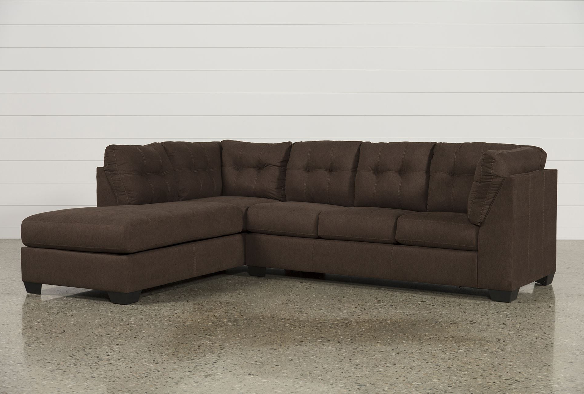 Aurora 2 Piece Sectionals Intended For Newest Maier Walnut 2 Piece Sectional W/raf Chaise – Signature (View 4 of 20)