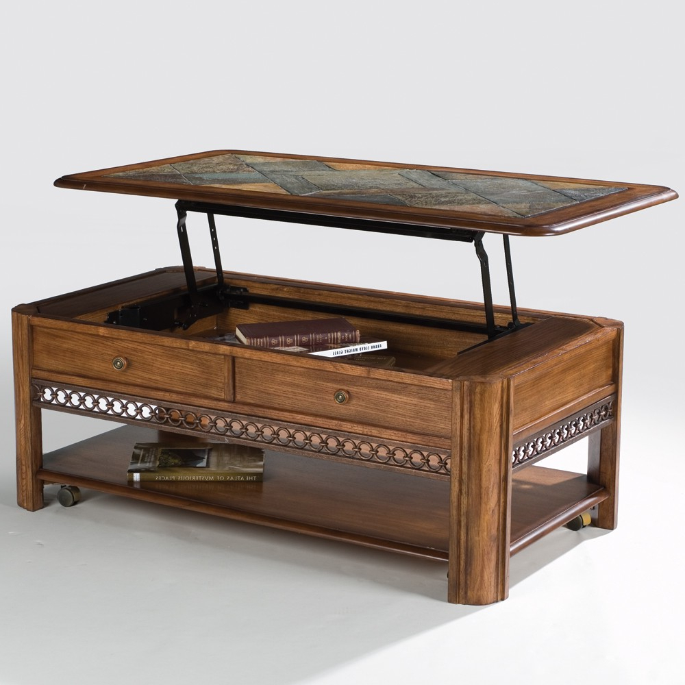 Autumn Cocktail Tables With Casters Intended For Well Liked Madison Wood Lift Top Rectangular Cocktail Table In Autumn Brown (Gallery 1 of 20)