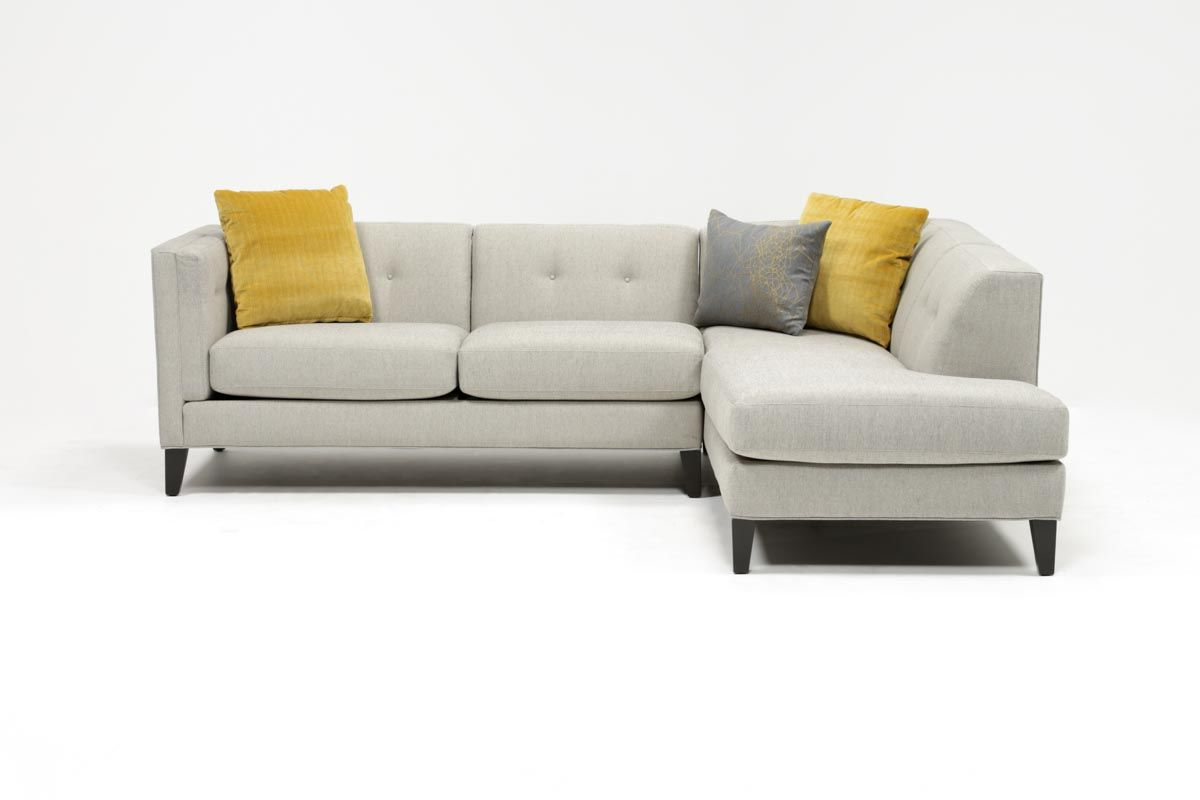 Featured Photo of Avery 2 Piece Sectionals With Raf Armless Chaise
