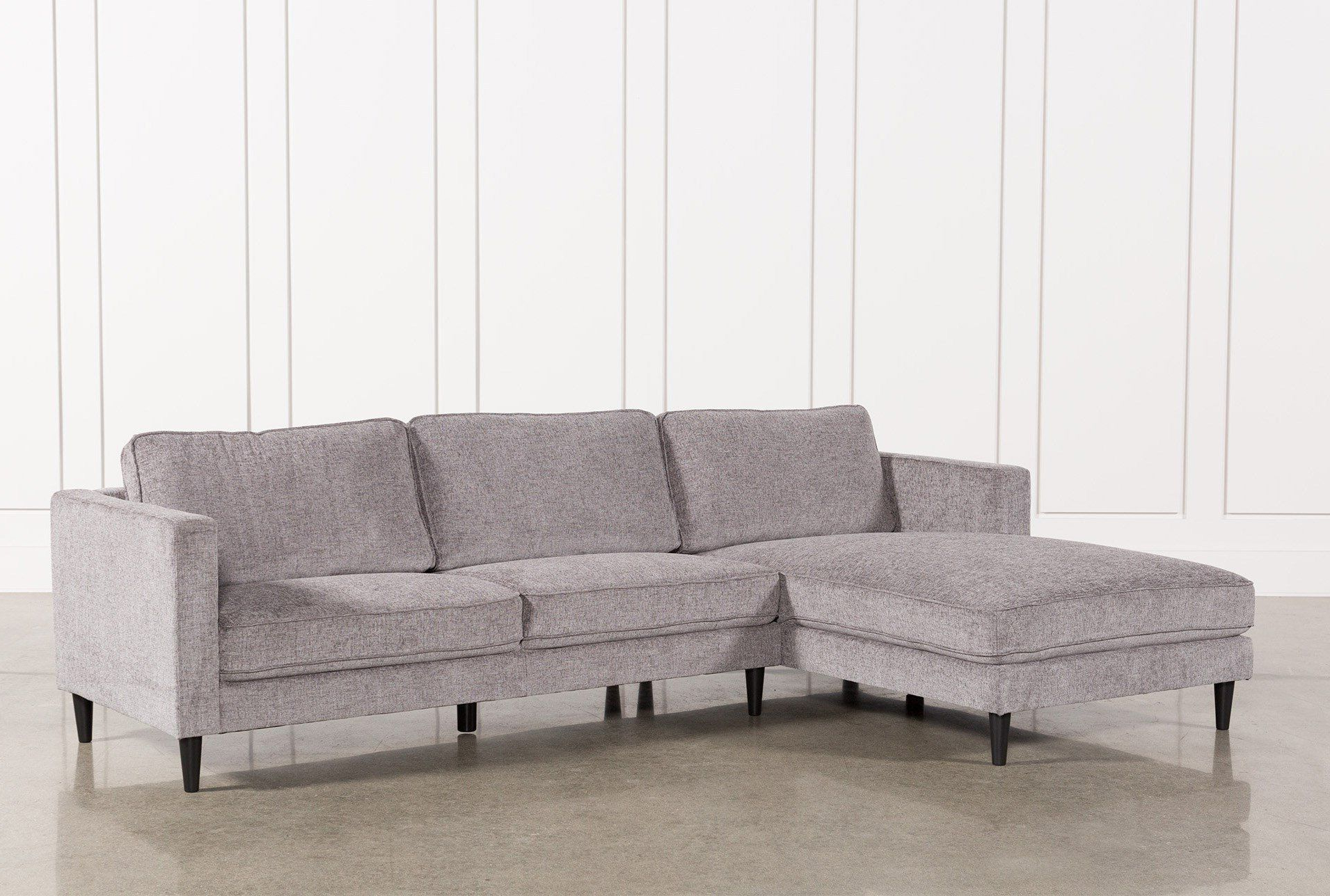 Avery 2 Piece Sectionals With Raf Armless Chaise With Current Cosmos Grey 2 Piece Sectional W/laf Chaise (View 3 of 20)