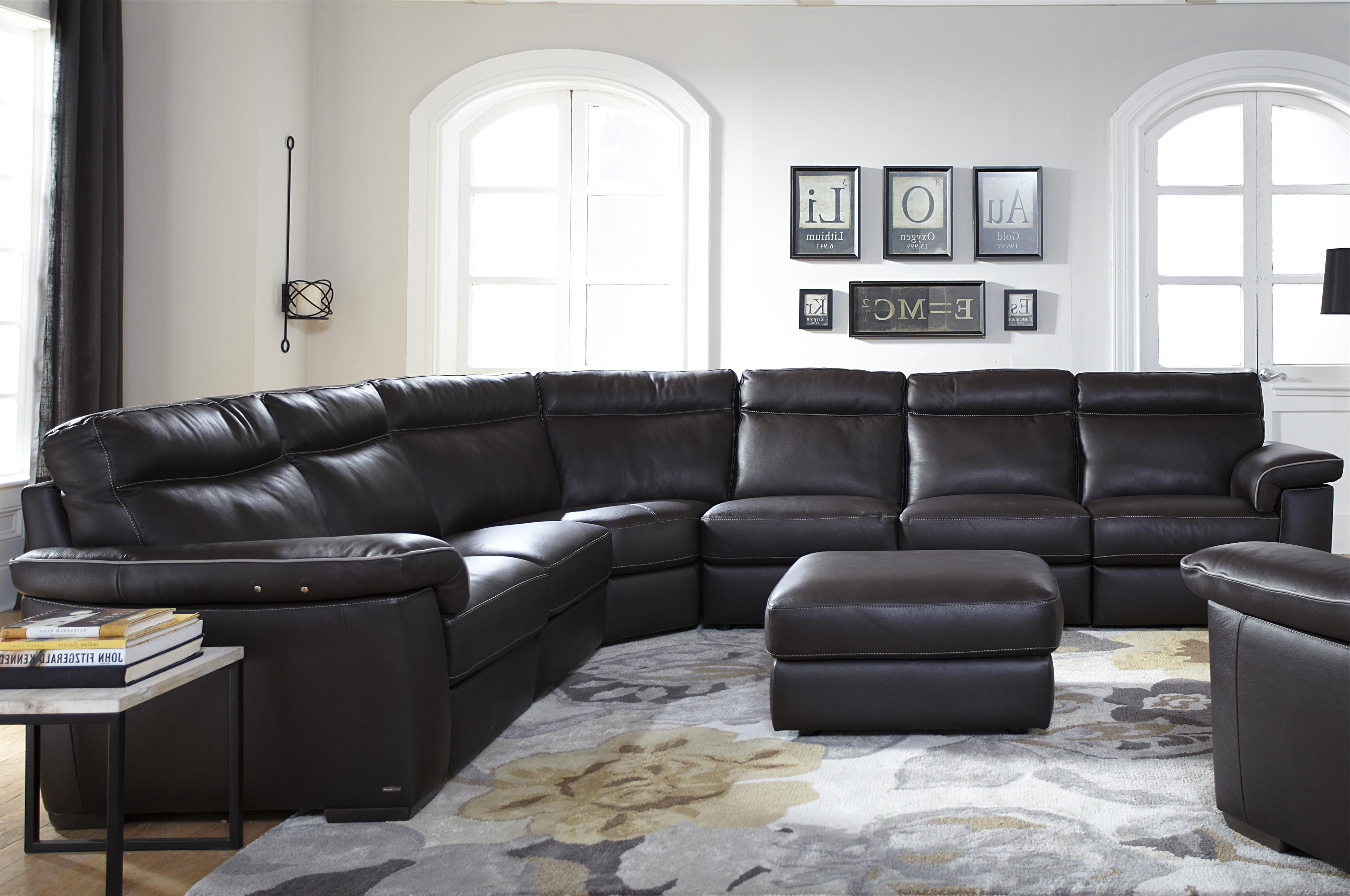 B757 Four Piece Power Reclining Sectional Sofa With Padded Headrests Intended For Best And Newest Blaine 4 Piece Sectionals (View 10 of 20)