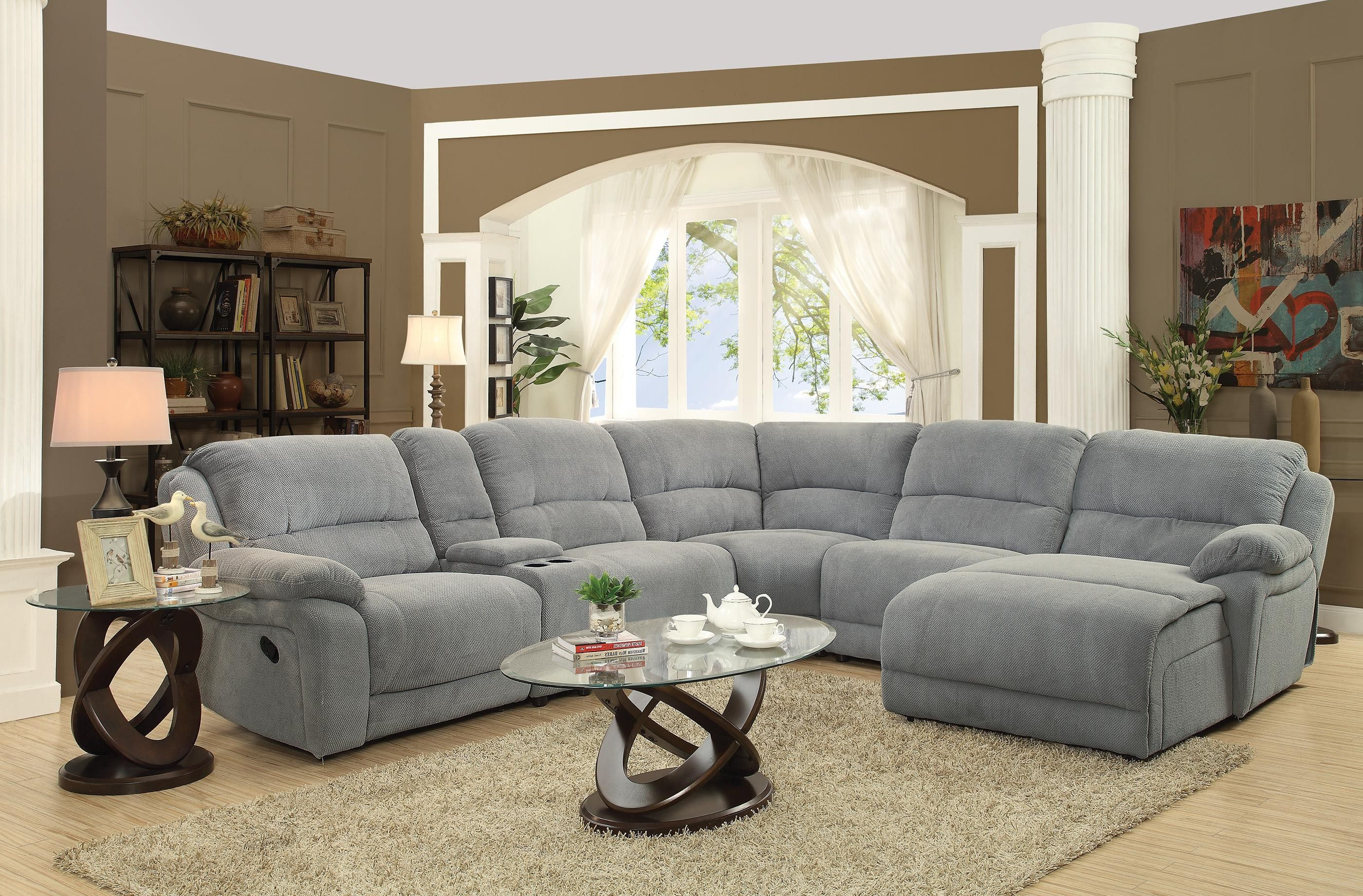 Baci Living Room Inside Denali Charcoal Grey 6 Piece Reclining Sectionals With 2 Power Headrests (View 1 of 20)
