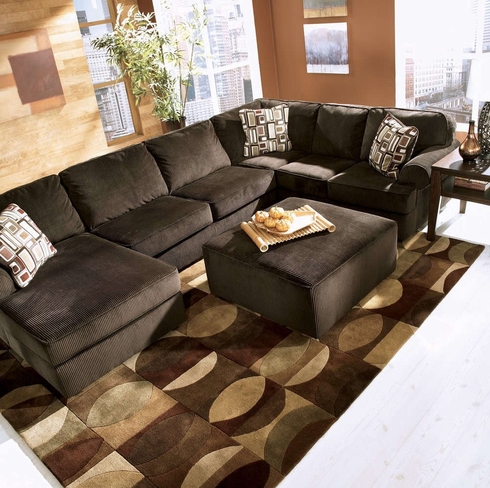 Baci Living Room Inside Norfolk Chocolate 3 Piece Sectionals With Raf Chaise (View 15 of 20)