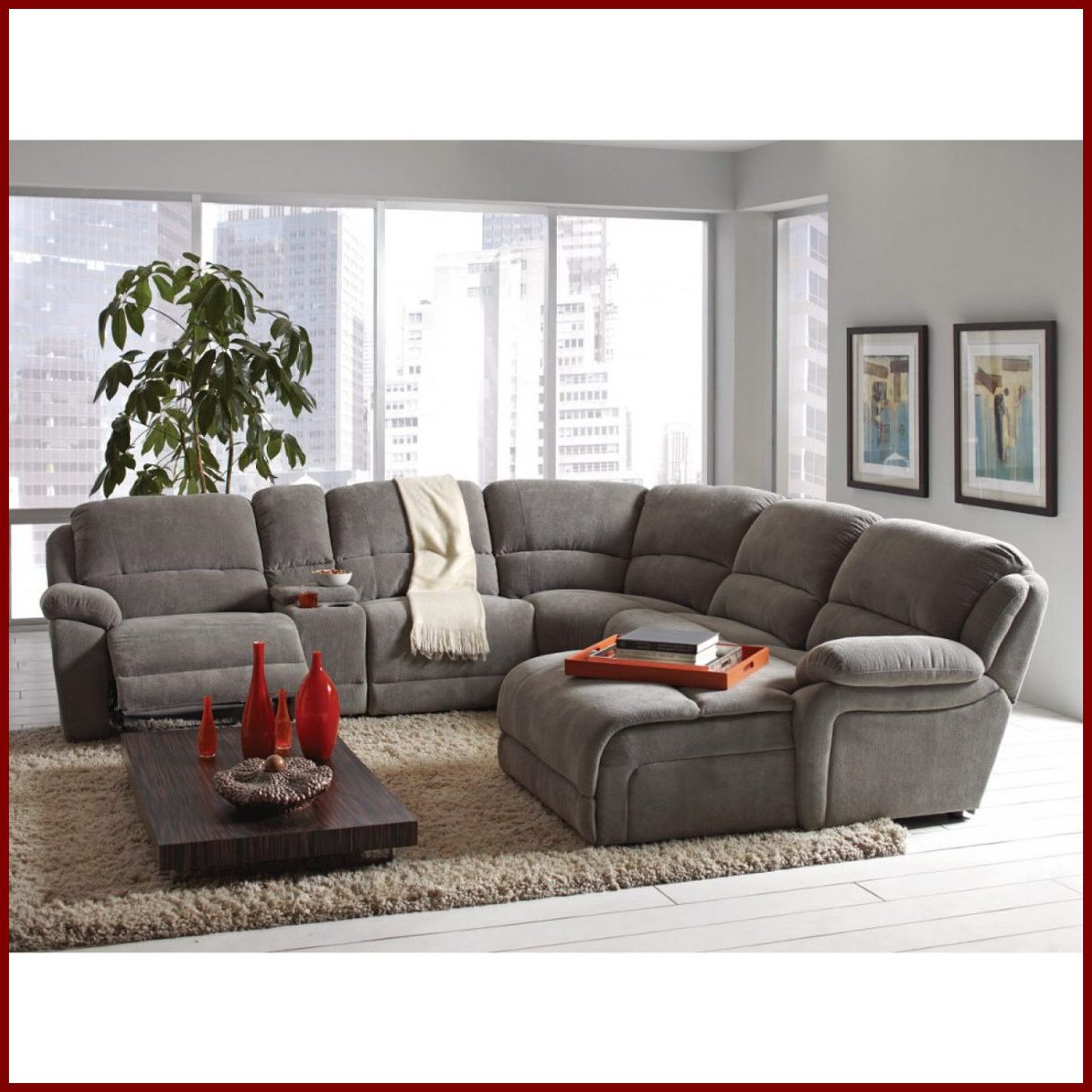 Baci Living Room Intended For Most Current Denali Light Grey 6 Piece Reclining Sectionals With 2 Power Headrests (View 12 of 20)