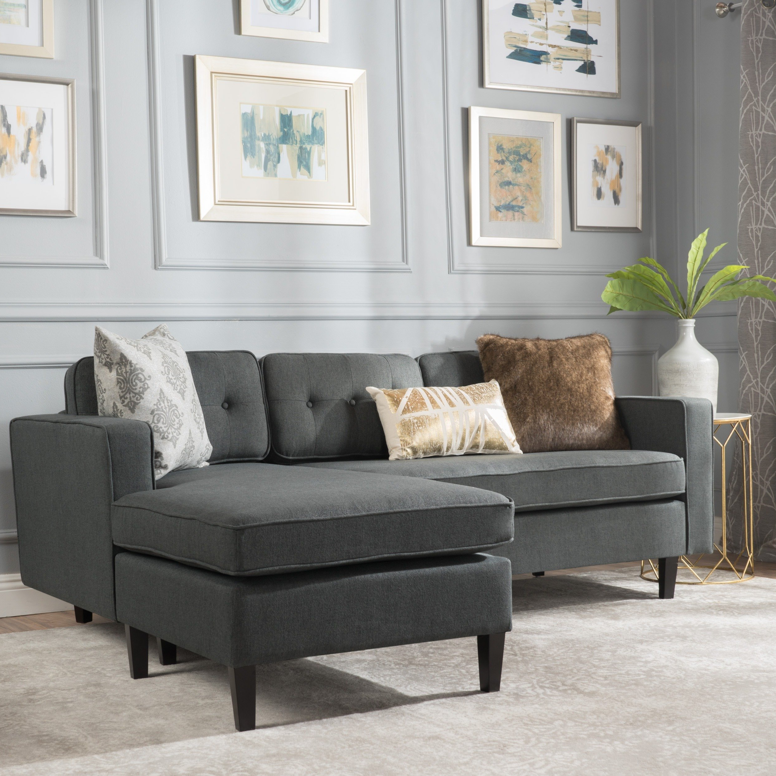 Baci Living Room Pertaining To Tenny Cognac 2 Piece Left Facing Chaise Sectionals With 2 Headrest (View 11 of 20)