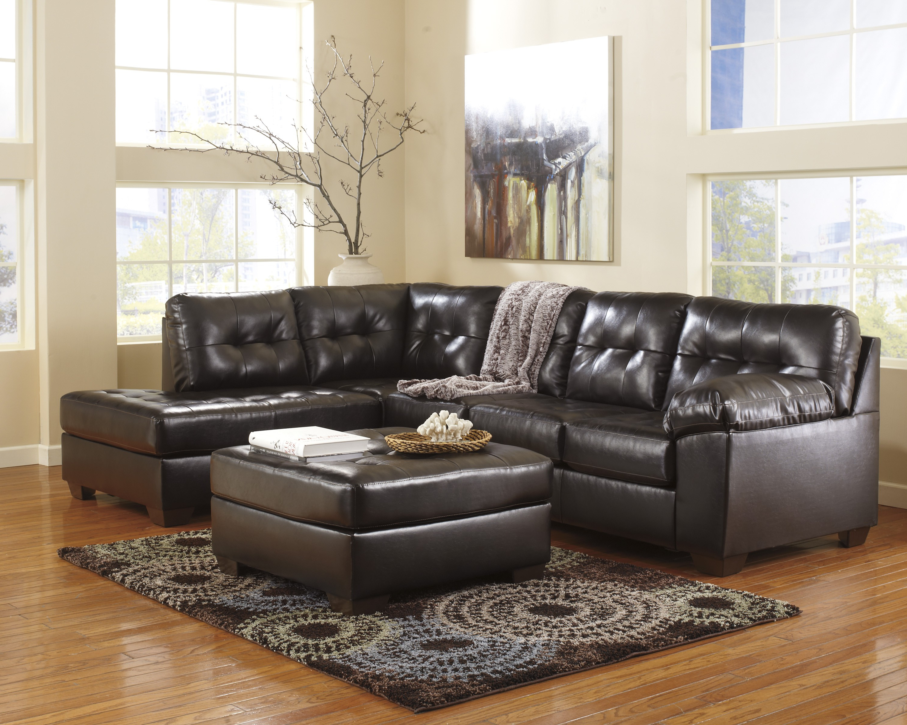 Baci Living Room With Regard To Norfolk Chocolate 6 Piece Sectionals With Laf Chaise (Gallery 5 of 20)