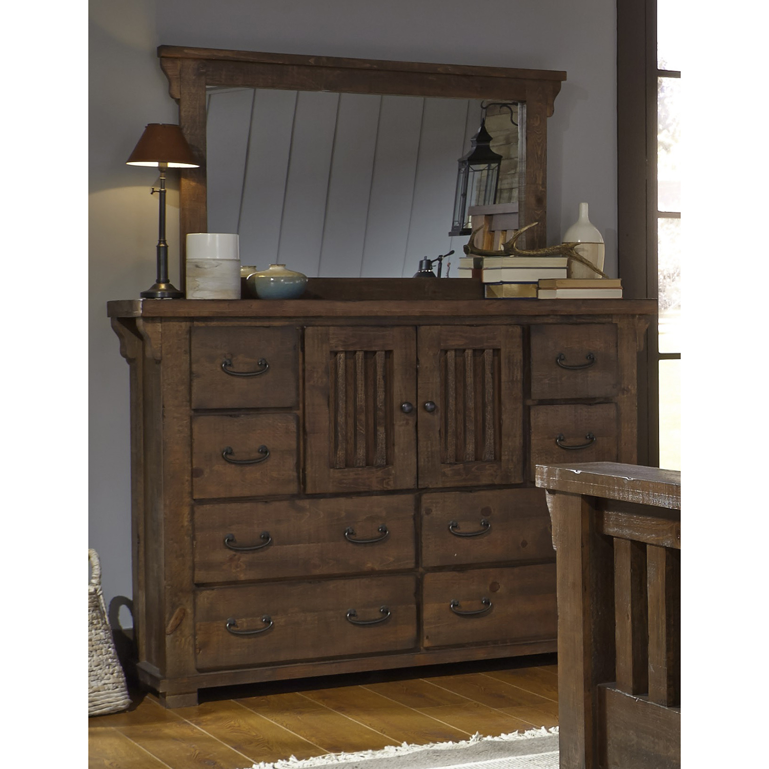 Bale Rustic Grey Sideboards With Regard To Preferred Progressive Furniture Forrester Door Dresser B631  (View 8 of 20)