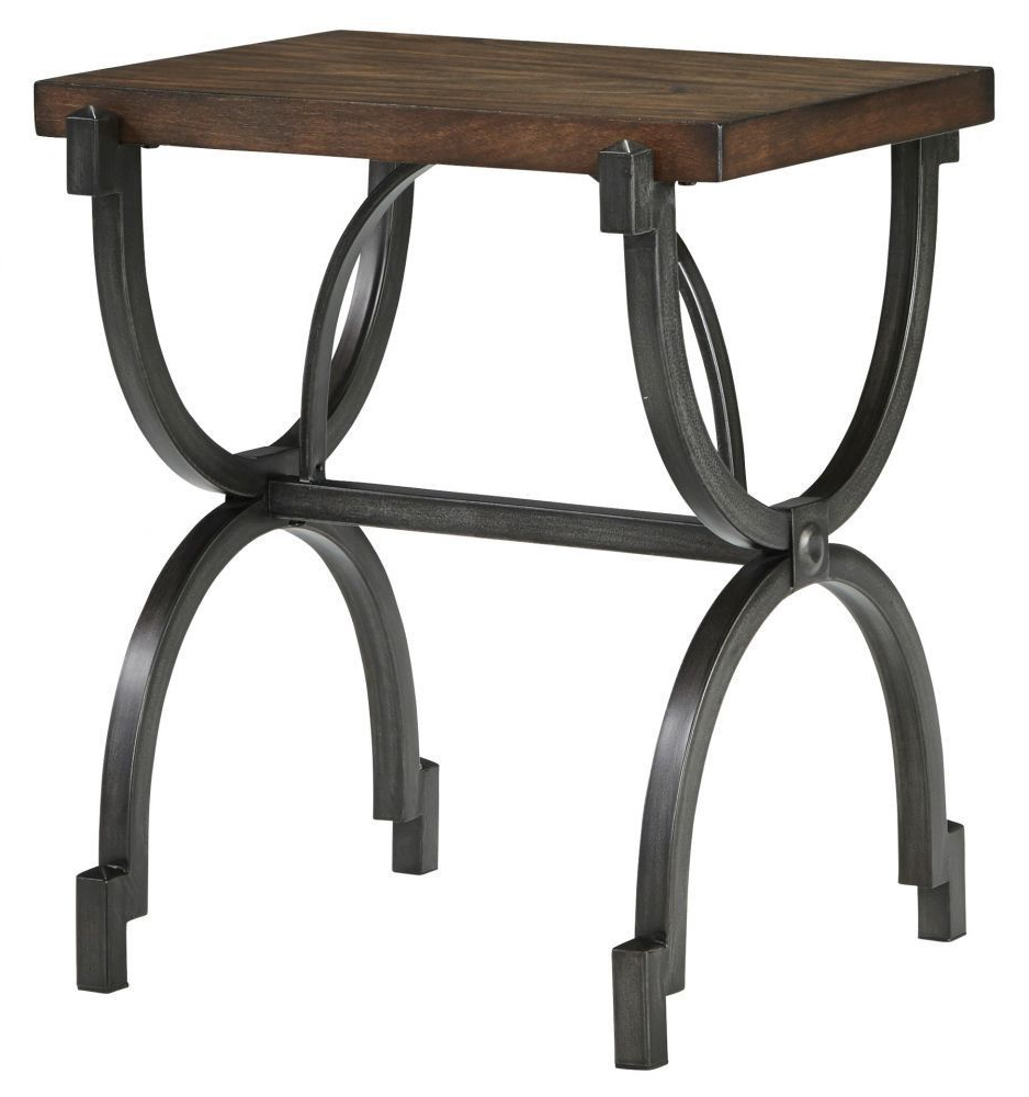 Baybrin Rustic Brown End Table (Gallery 7 of 20)