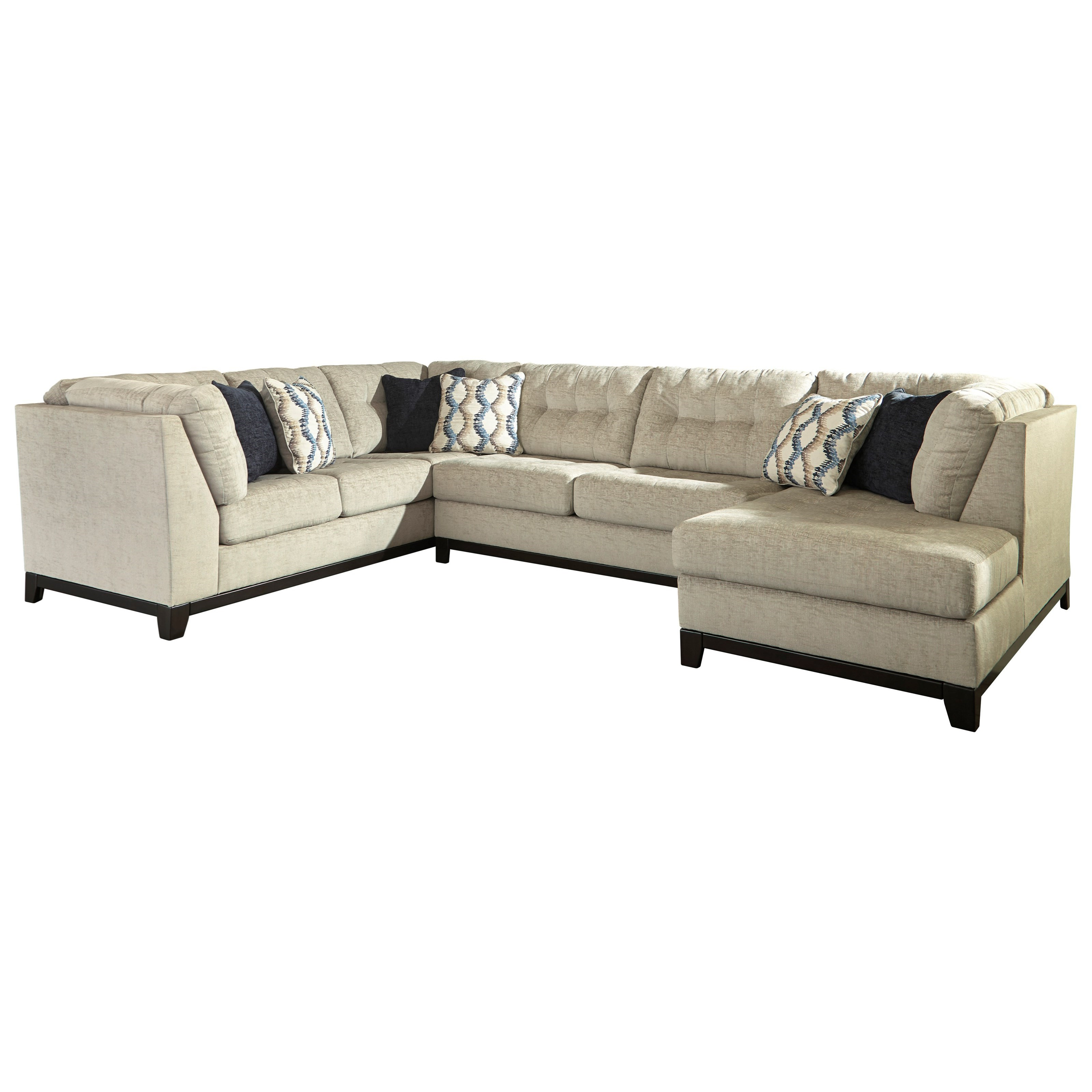 Benchcraft Beckendorf 3 Piece Sectional With Chaise (View 6 of 20)