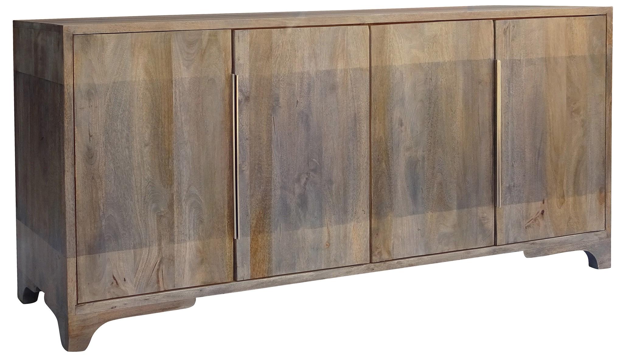 Bengal Manor 2 Tone Grey Mango Wood 4 Door Sideboard – Walmart For Famous Mango Wood Grey 4 Drawer 4 Door Sideboards (View 1 of 20)