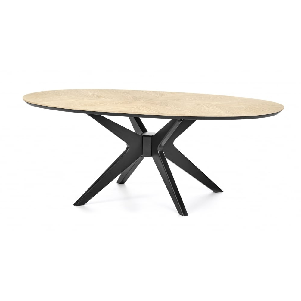 Bentley Designs Brunel Chalk Oak And Gunmetal Coffee Table – Oval With Trendy Gunmetal Coffee Tables (View 5 of 20)