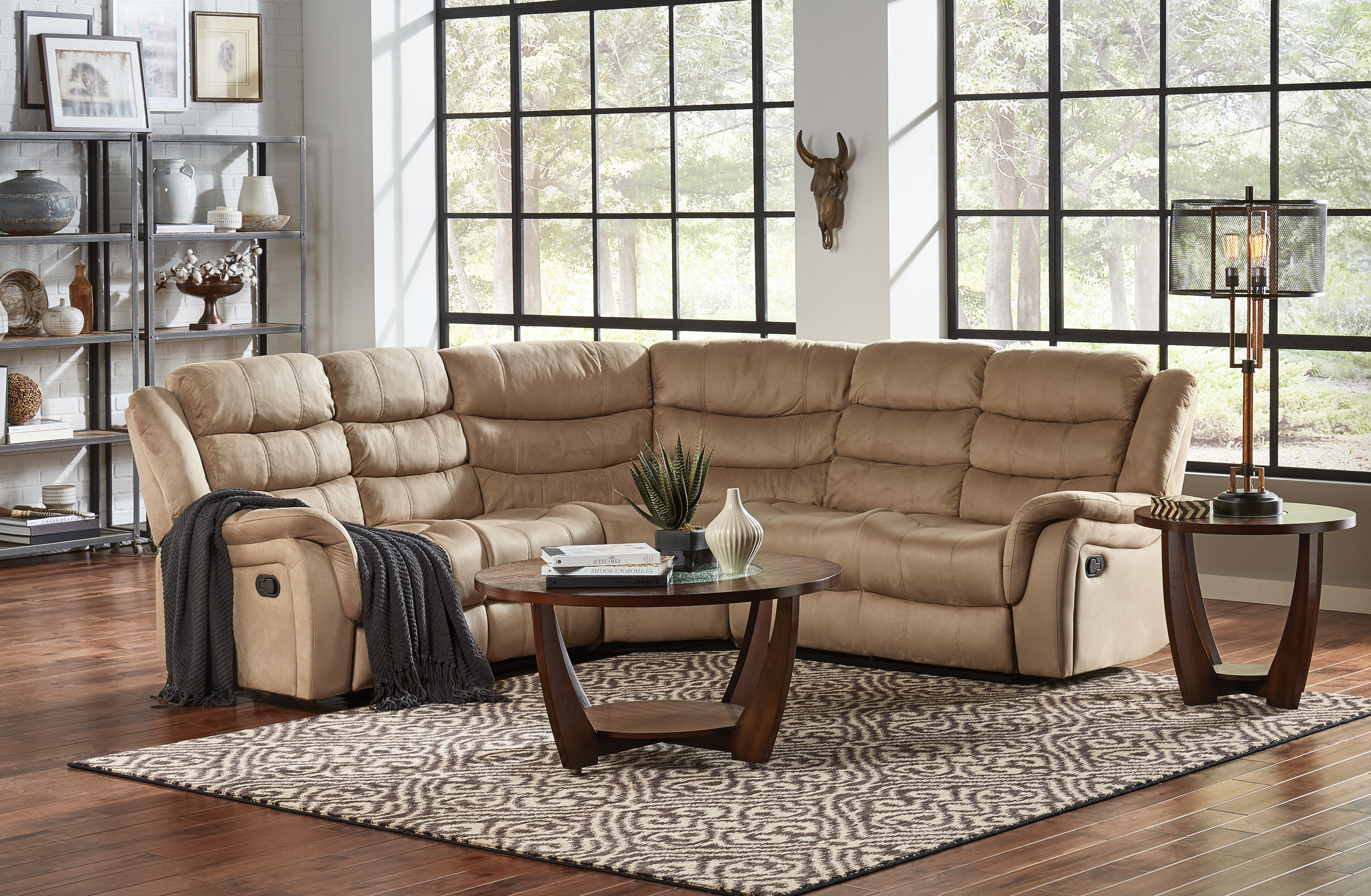 Benton 3pc Reclining Sectional (View 3 of 20)