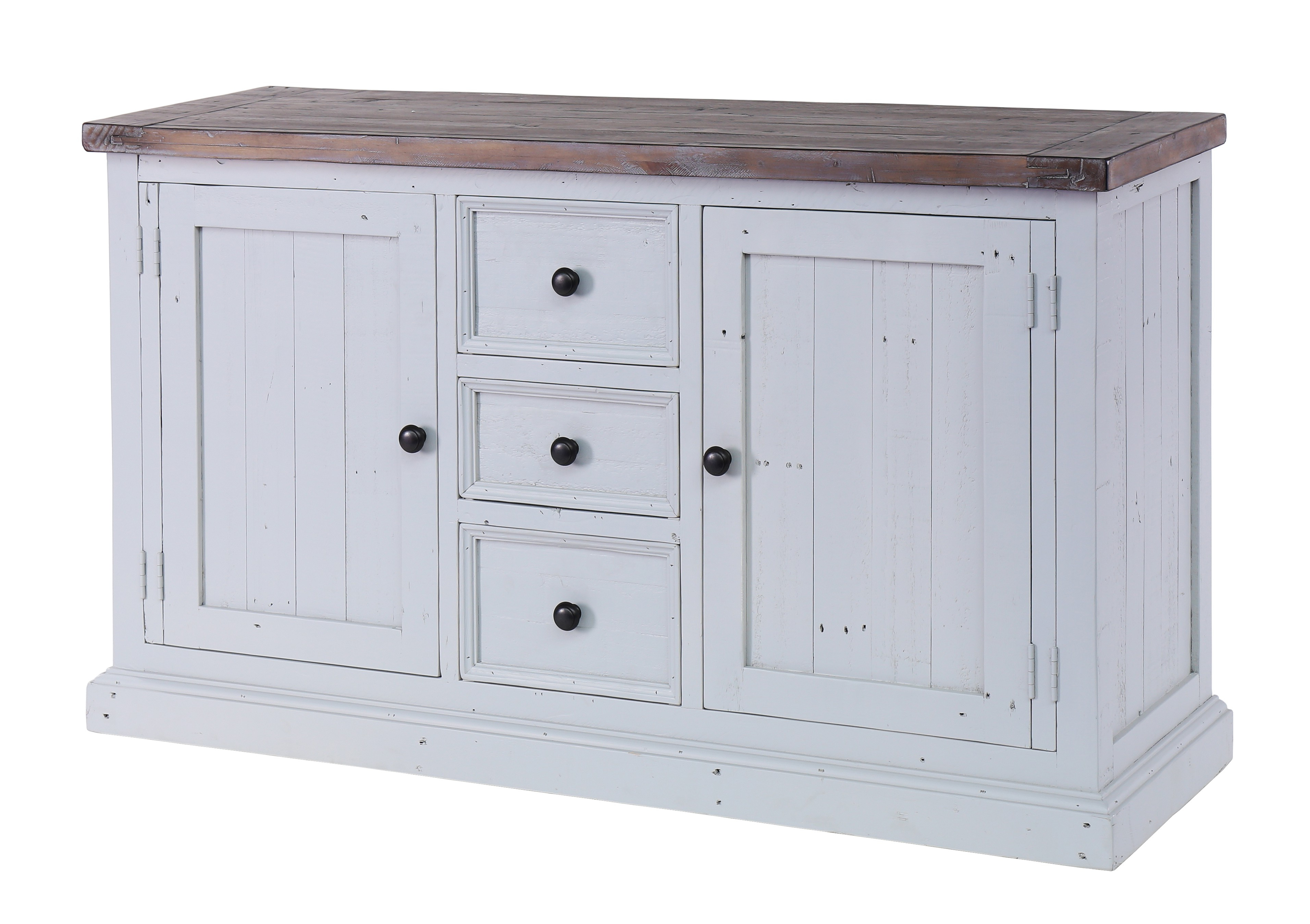 Besp Oak Hampton Wide Sideboard – 2 Doors, 3 Drawers – Style Our Home With Most Recent Antique White Distressed 3 Drawer/2 Door Sideboards (View 8 of 20)