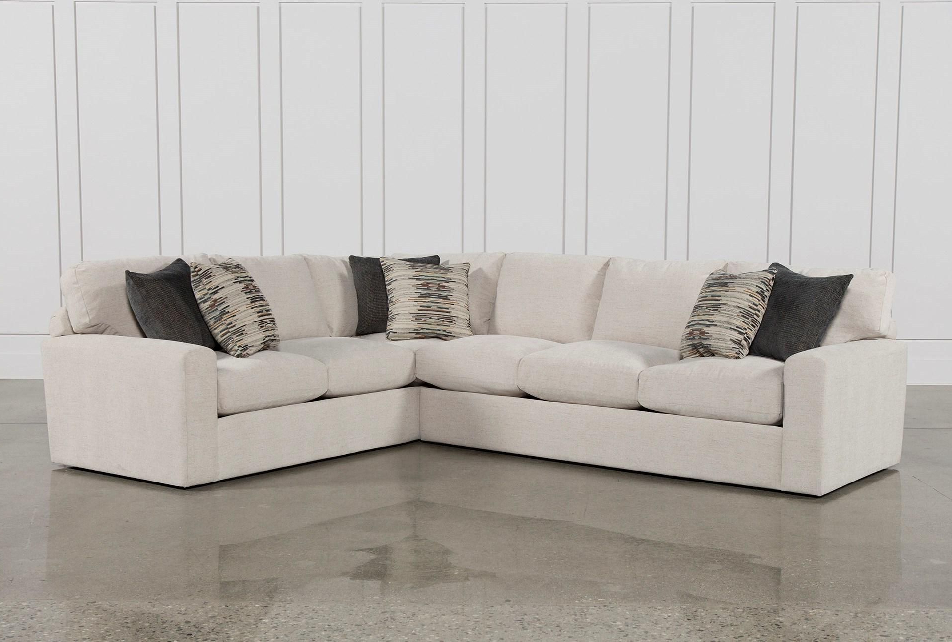 Best And Newest Aurora 2 Piece Sectionals Pertaining To Bowen 2 Piece Sectional, White, Sofas (View 12 of 20)