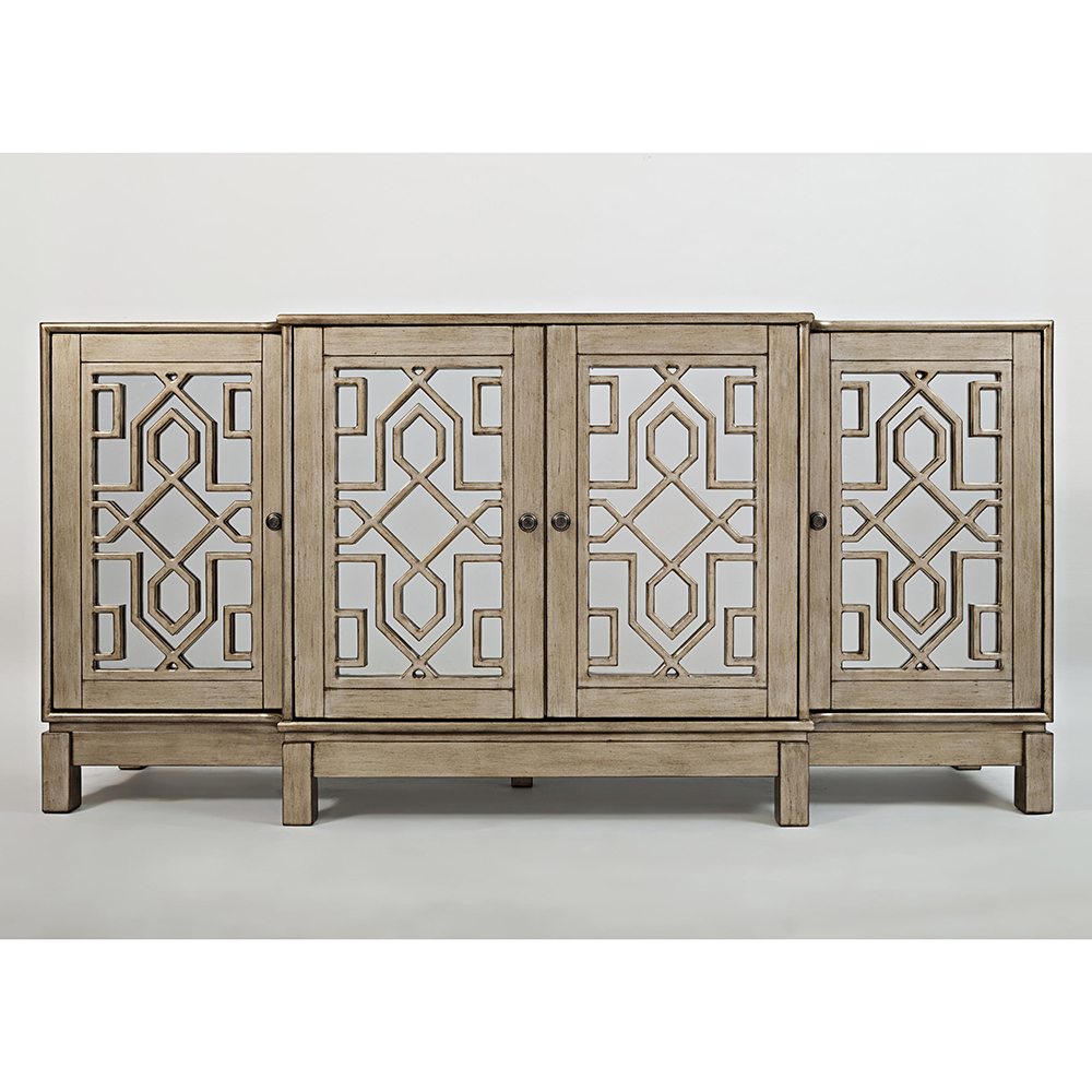 Best And Newest Brown Chevron 4 Door Sideboards Inside Buffet & Serving Sideboards (View 3 of 20)