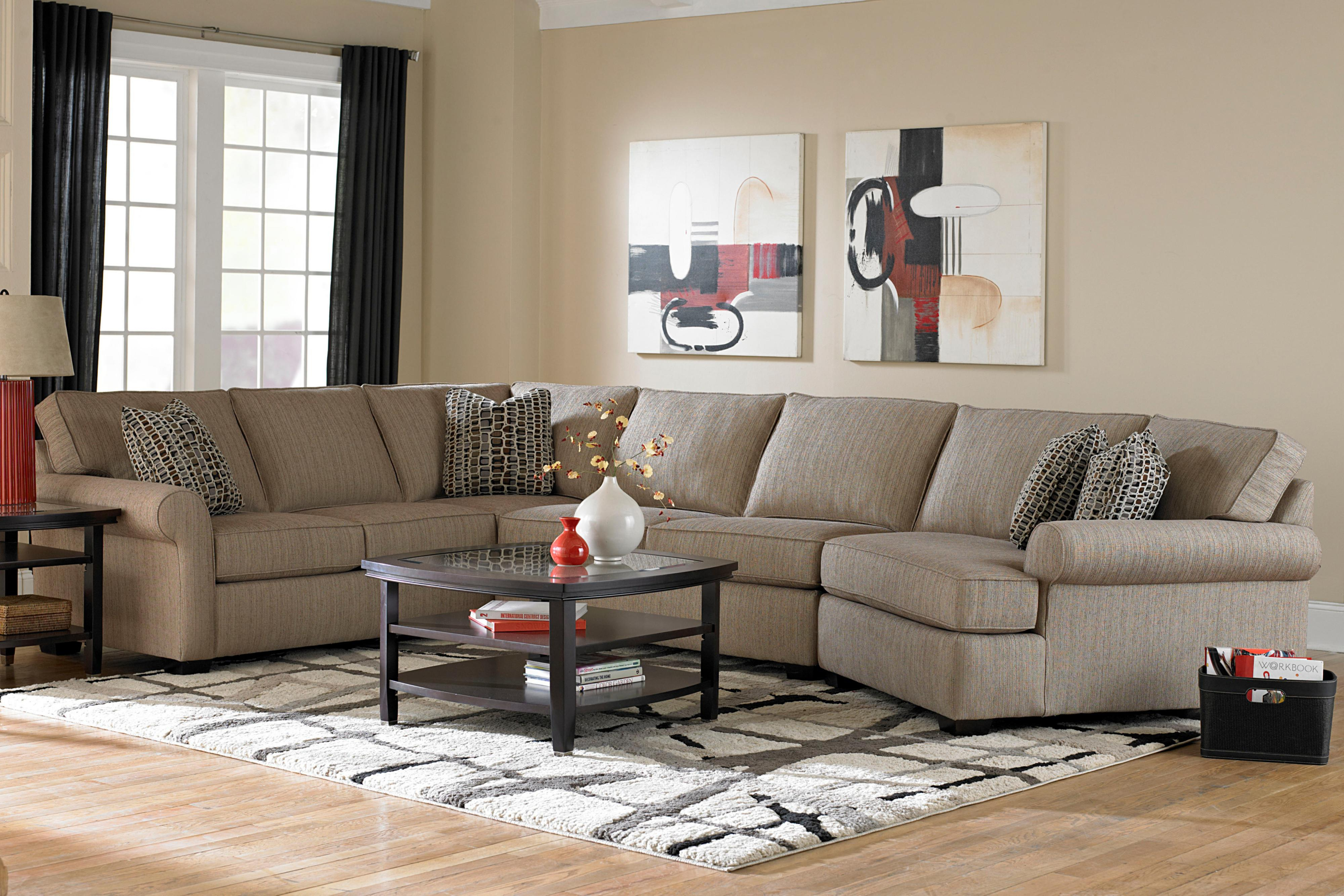 Best And Newest Broyhill Furniture Ethan Transitional Sectional Sofa With Left Pertaining To Meyer 3 Piece Sectionals With Raf Chaise (View 4 of 20)