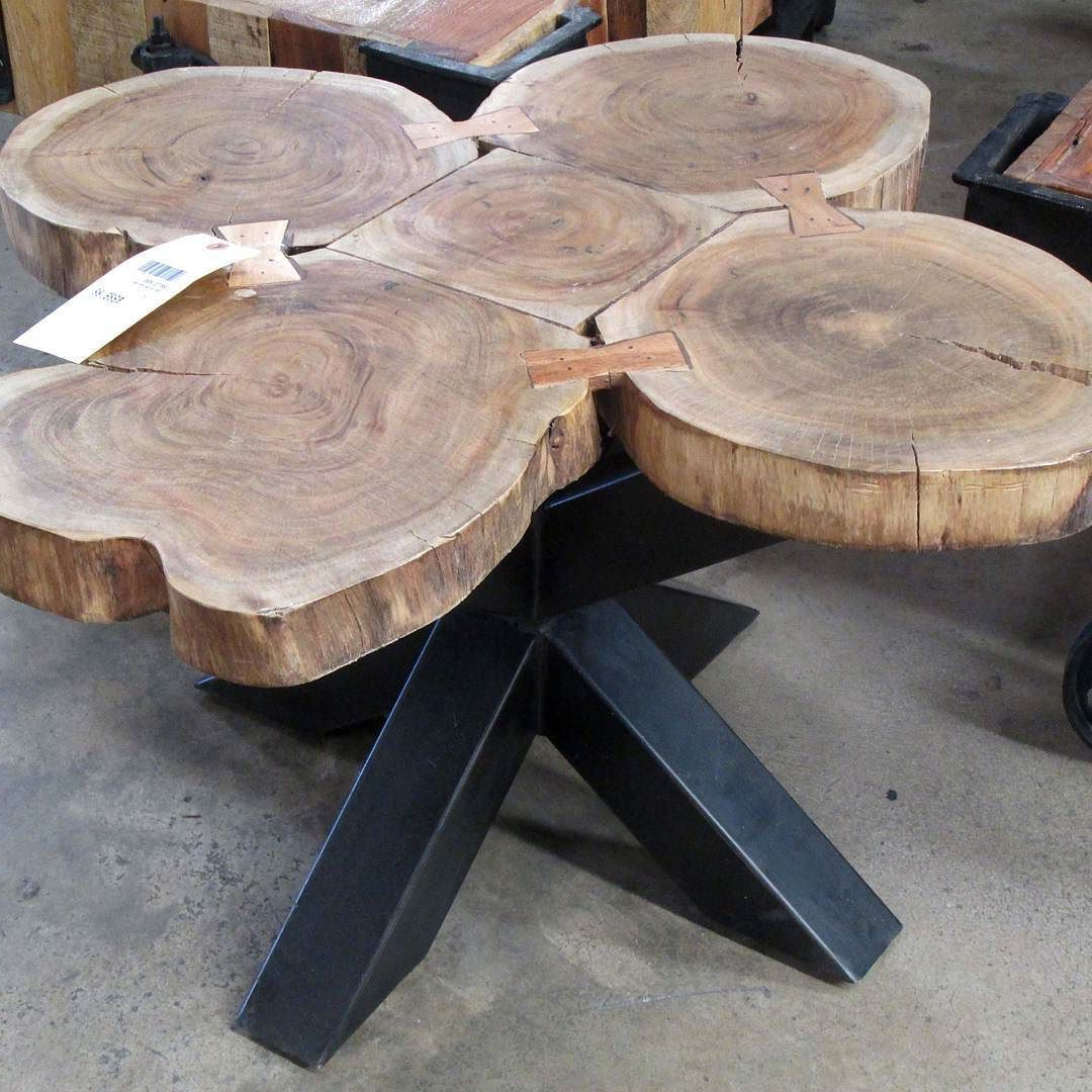 Best And Newest Coffee Table Made With Slices Of A Whole Tree Trunk, Revealing The Intended For Sliced Trunk Coffee Tables (View 3 of 20)