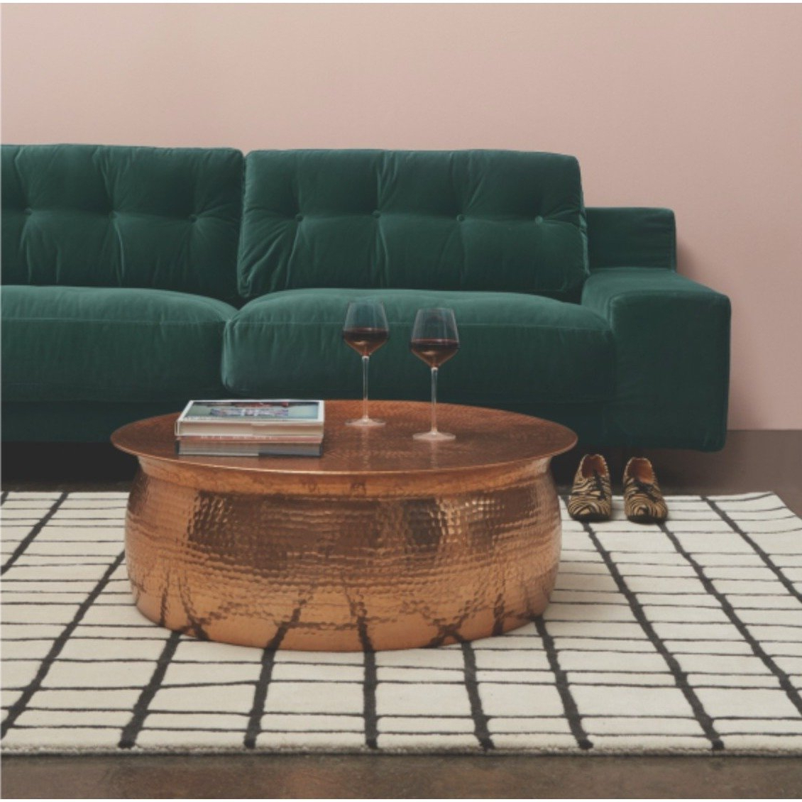 Best And Newest Cuff Hammered Gold Coffee Tables With Shop Hammered Rose Gold Finish Coffee Table – Free Shipping Today (View 2 of 20)