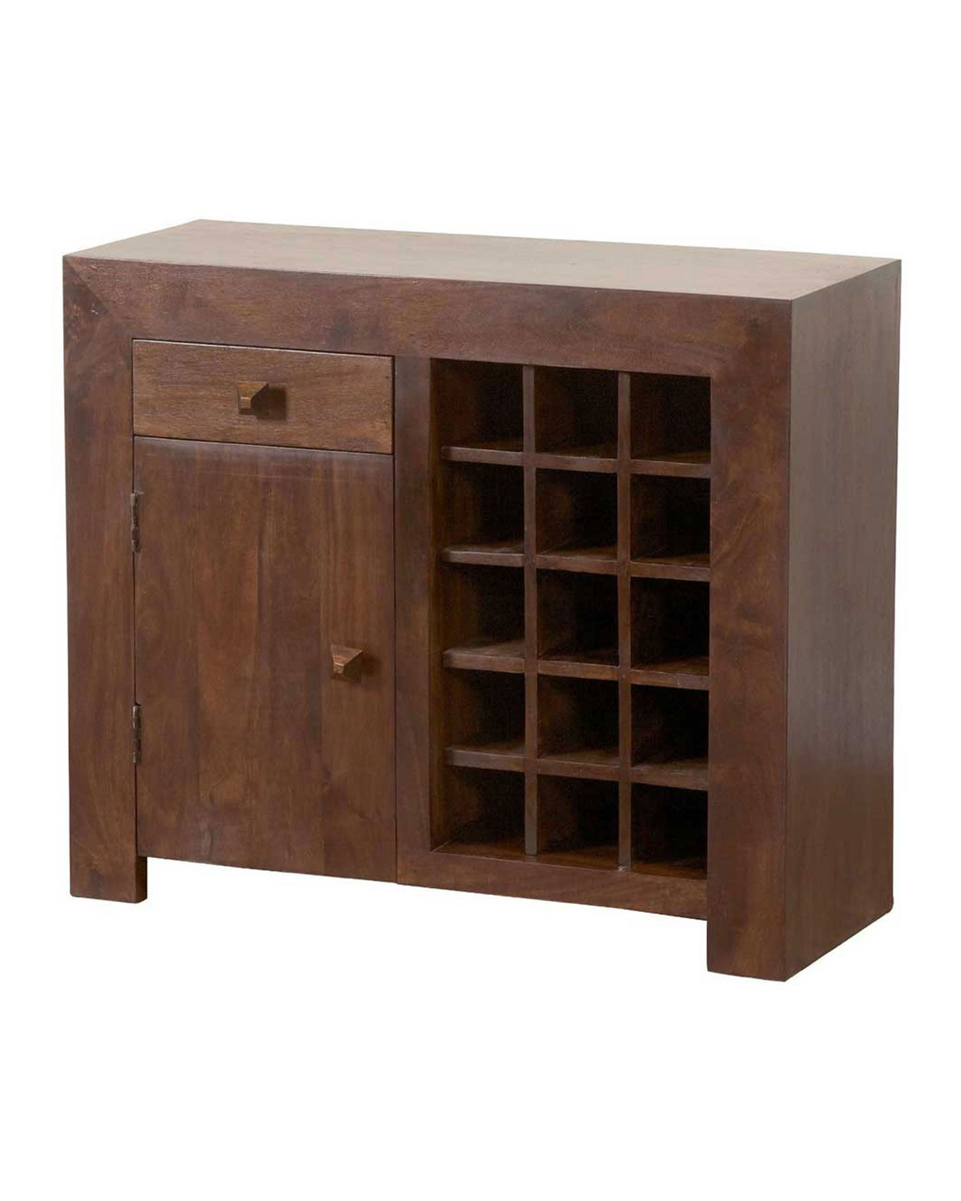 Best And Newest Dakota Sideboard With Wine Rack Dark Shade – Homescapes With Bale Rustic Grey Sideboards (Gallery 1 of 20)
