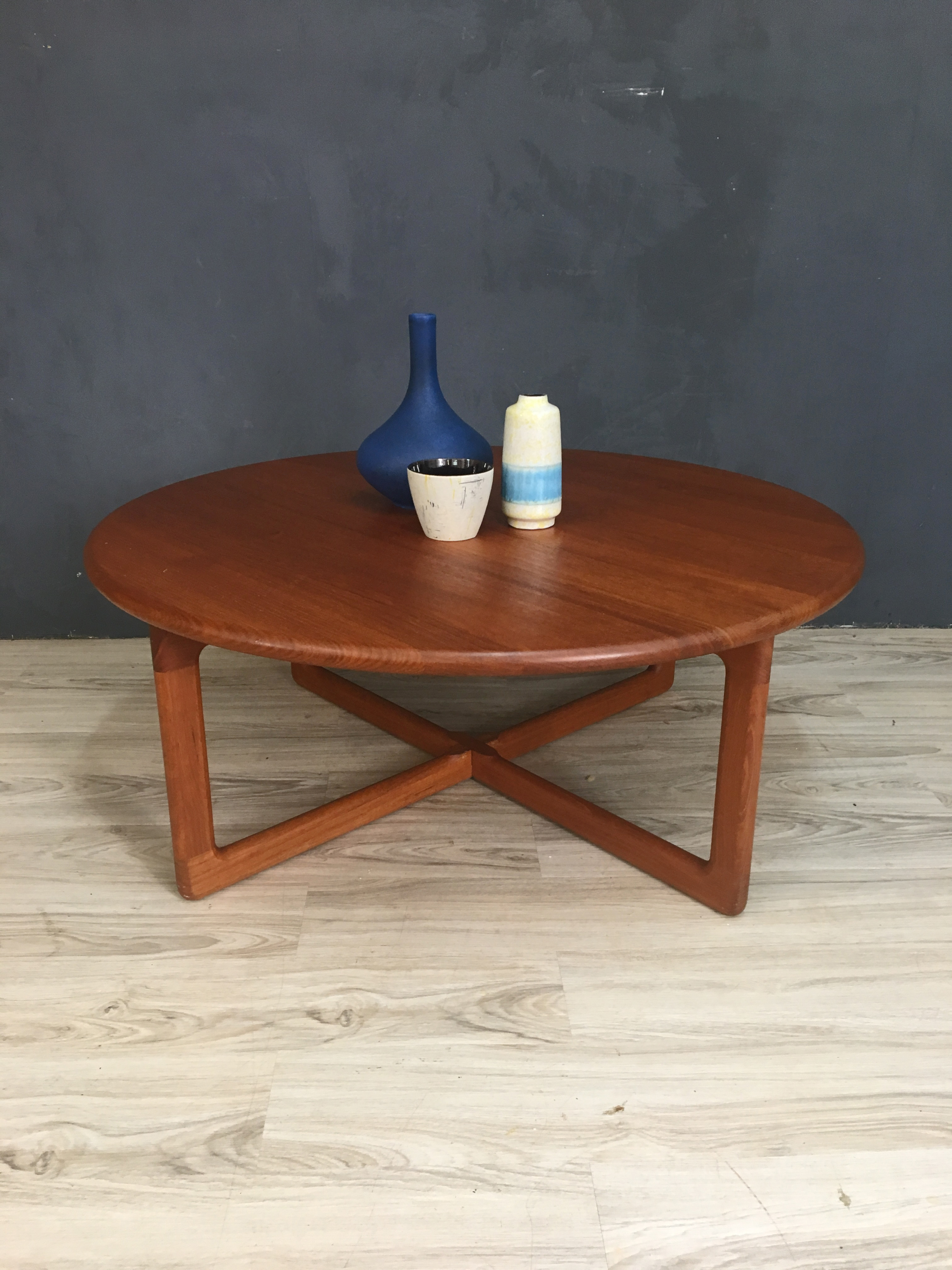 Best And Newest Danishmodern Round Teak Coffee Table – Retrocraft Design Within Round Teak Coffee Tables (View 17 of 20)