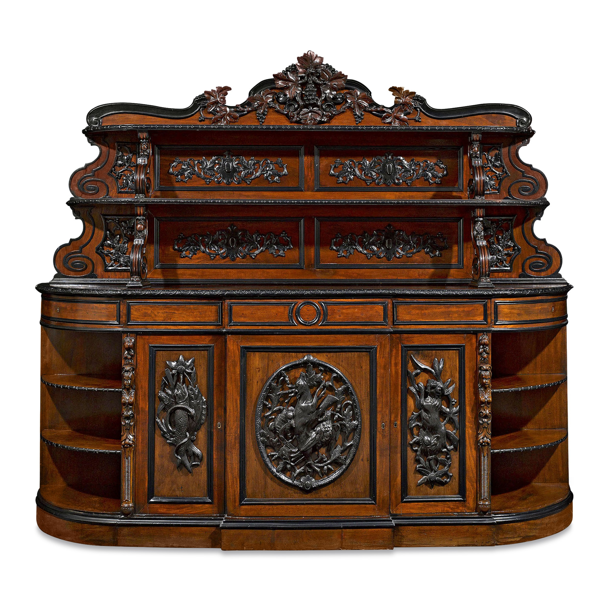 Best And Newest Diamond Circle Sideboards Inside Antique Furniture, French Furniture, Napoleon Iii Period Mahogany (View 14 of 20)