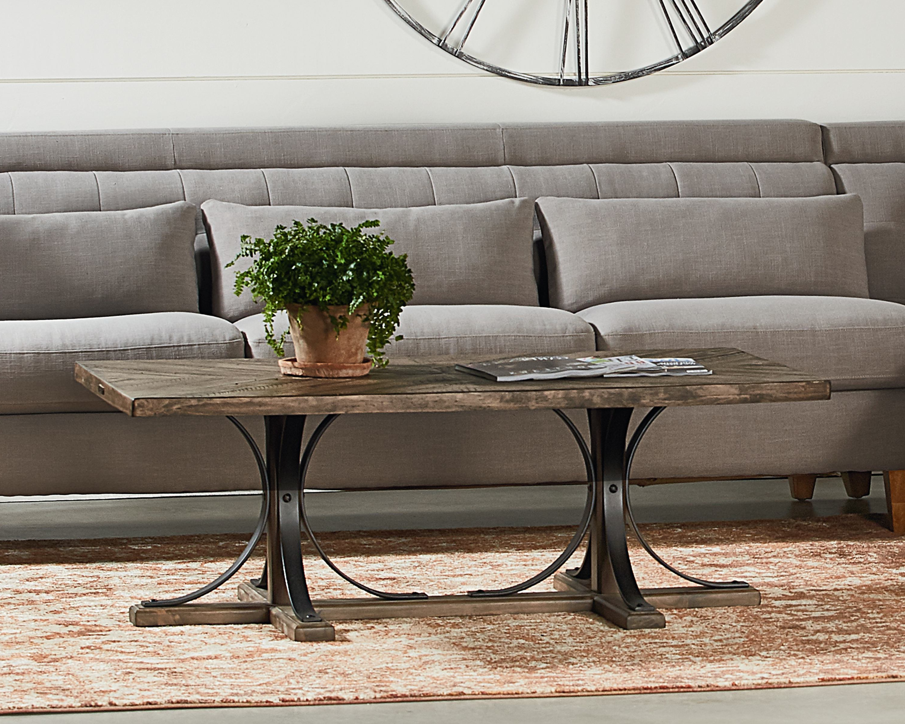 Best And Newest Iron Trestle Coffee Table – Magnolia Home With Regard To Magnolia Home Iron Trestle Cocktail Tables (View 1 of 20)