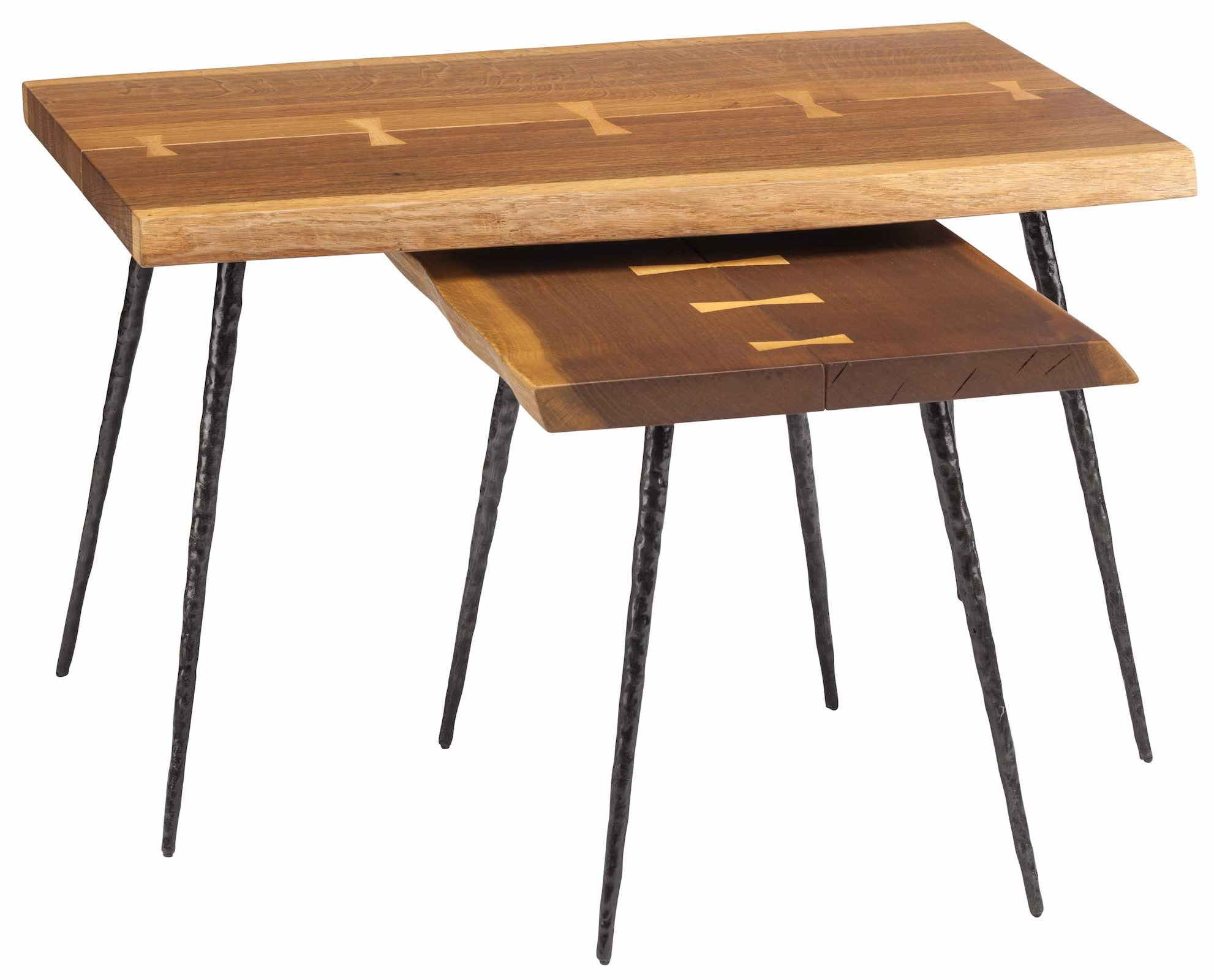 Best And Newest Nexa Nesting Side Tables In Smoked Oak And Cast Iron Feet For Smoked Oak Side Tables (View 6 of 20)