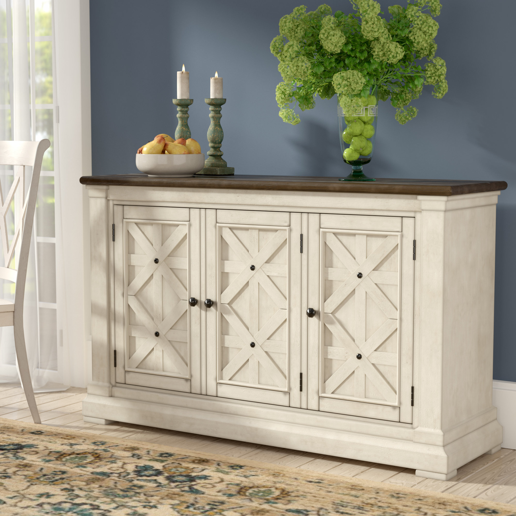 Best And Newest Oil Pale Finish 3 Door Sideboards With Regard To Alsace Sideboard & Reviews (View 2 of 20)