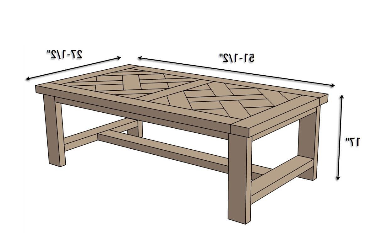 Best And Newest Parquet Coffee Tables Intended For Diy Parquet Coffee Table { Free Plans (View 1 of 20)