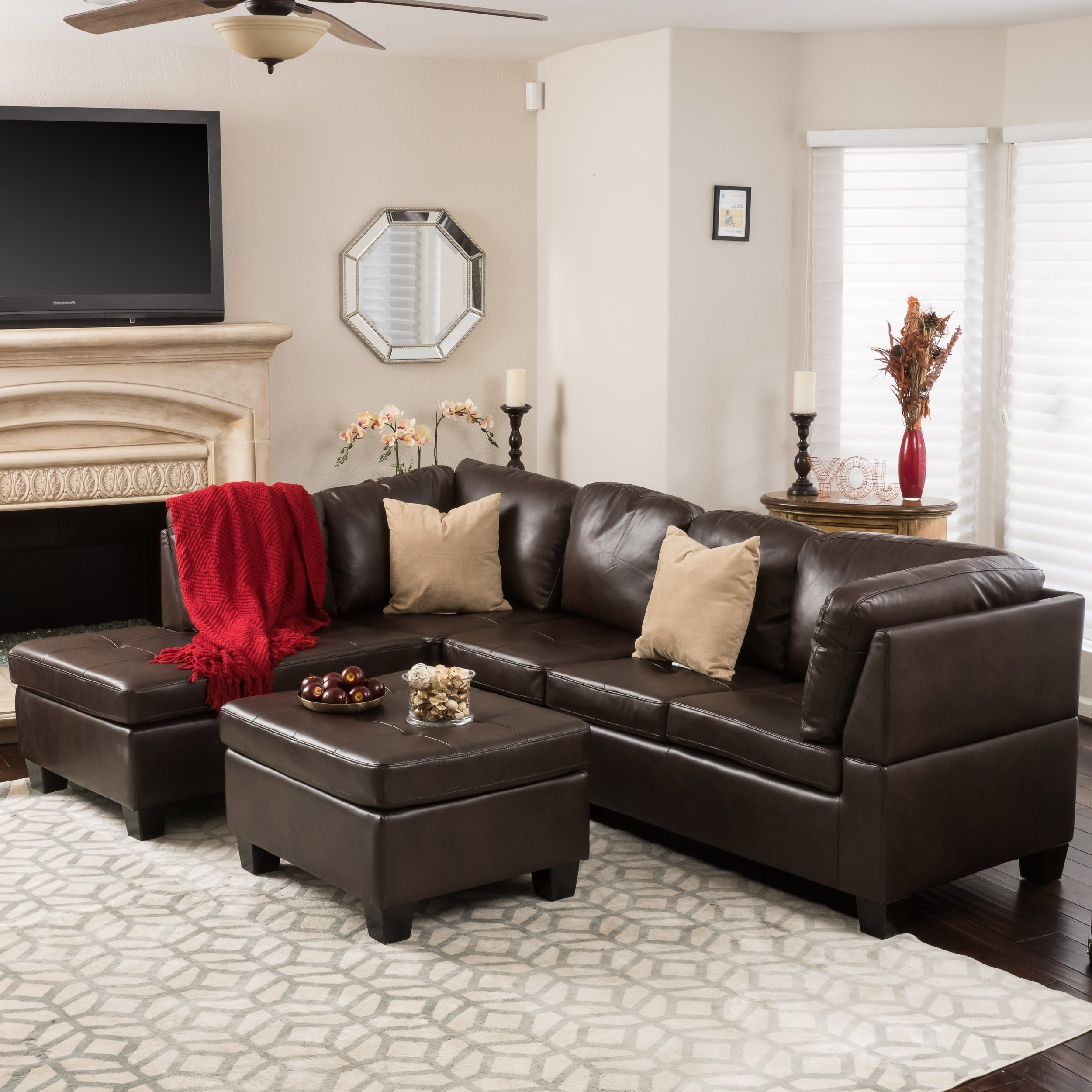 Best And Newest Shop Canterbury 3 Piece Pu Leather Sectional Sofa Setchristopher With Regard To Harper Down 3 Piece Sectionals (View 3 of 20)