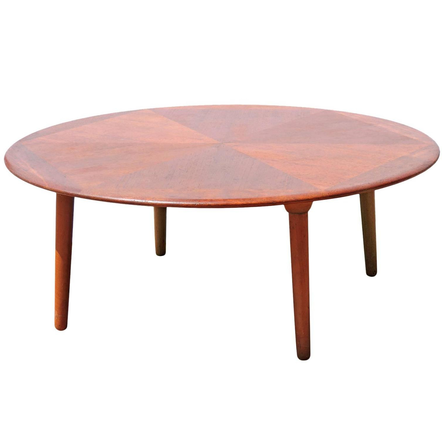 Best And Newest Teak Diamond Design Round Coffee Tableh. W (View 3 of 20)
