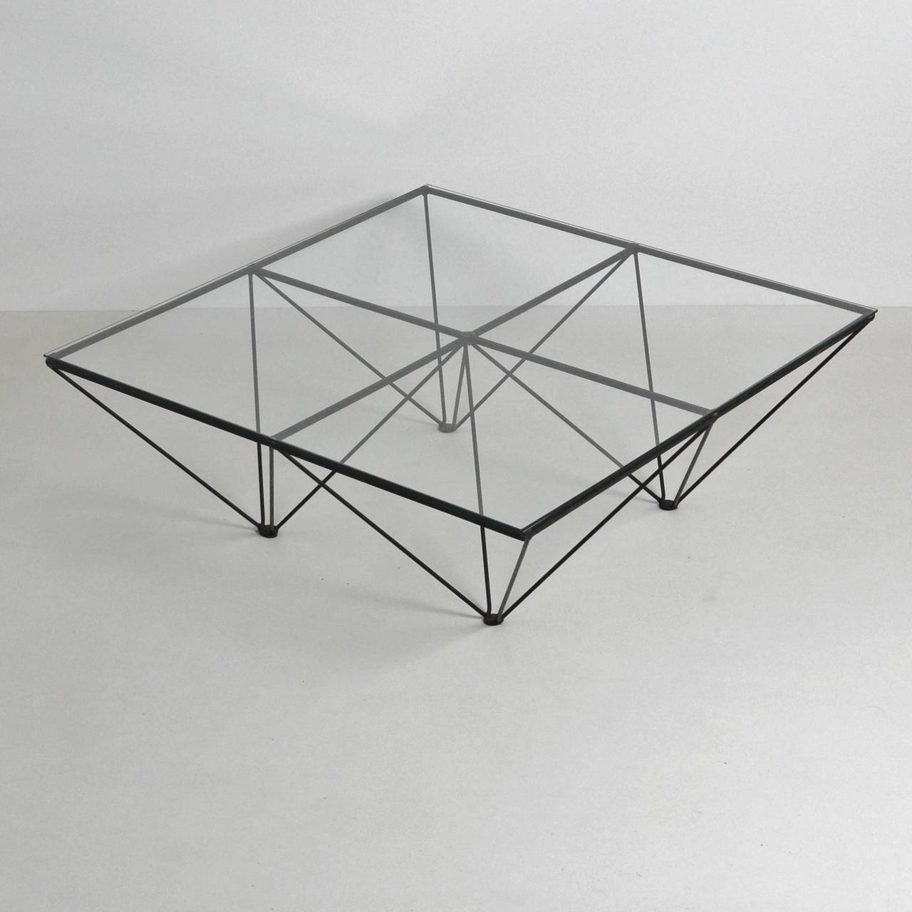 Black Wire Coffee Tables With Regard To Most Recently Released Alanda Style Geometric Glass Wire Framed Coffee Table At 1stdibs (View 8 of 20)