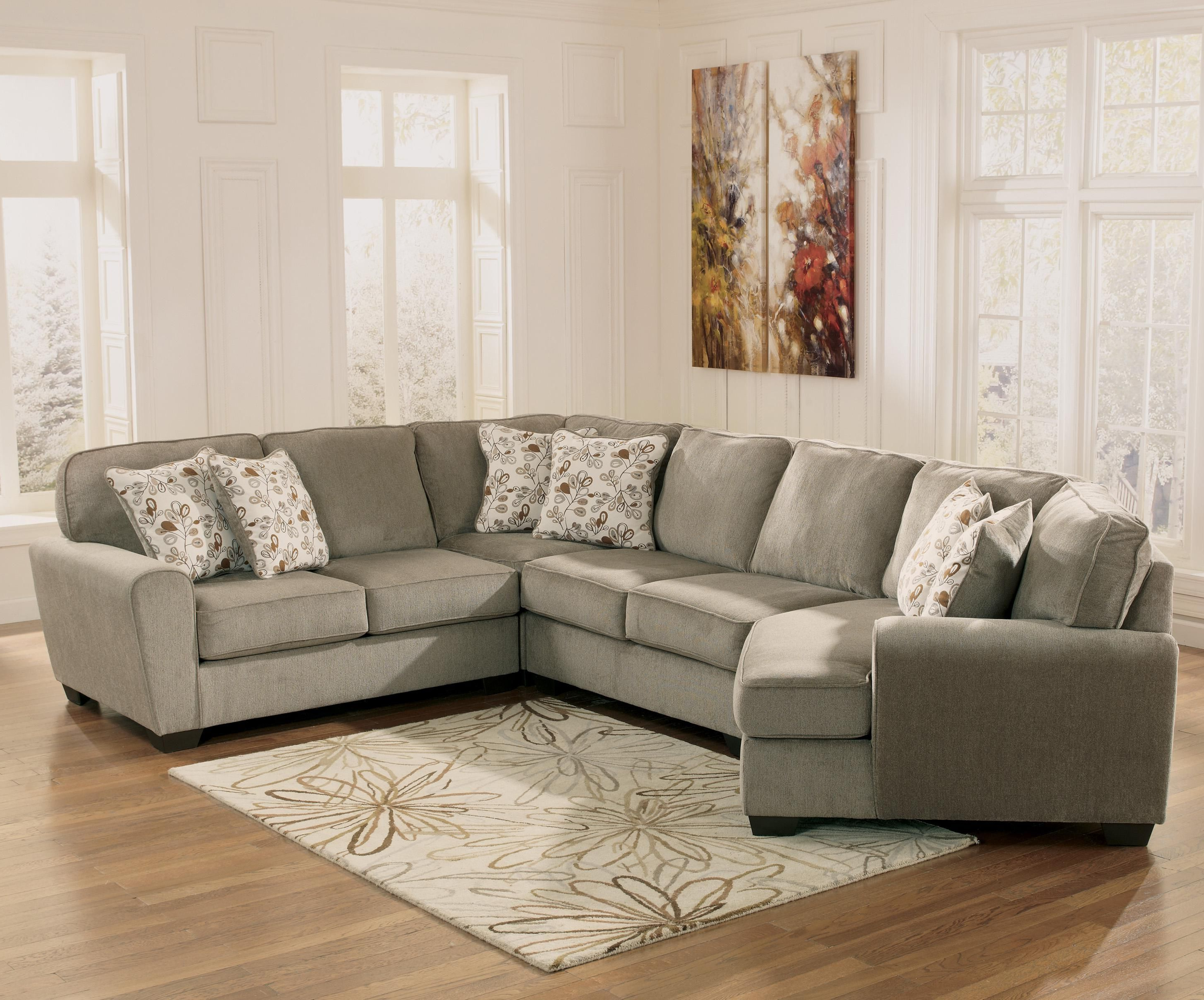 Blaine 4 Piece Sectionals For Preferred Patola Park – Patina 4 Piece Small Sectional With Left Cuddler (View 3 of 20)
