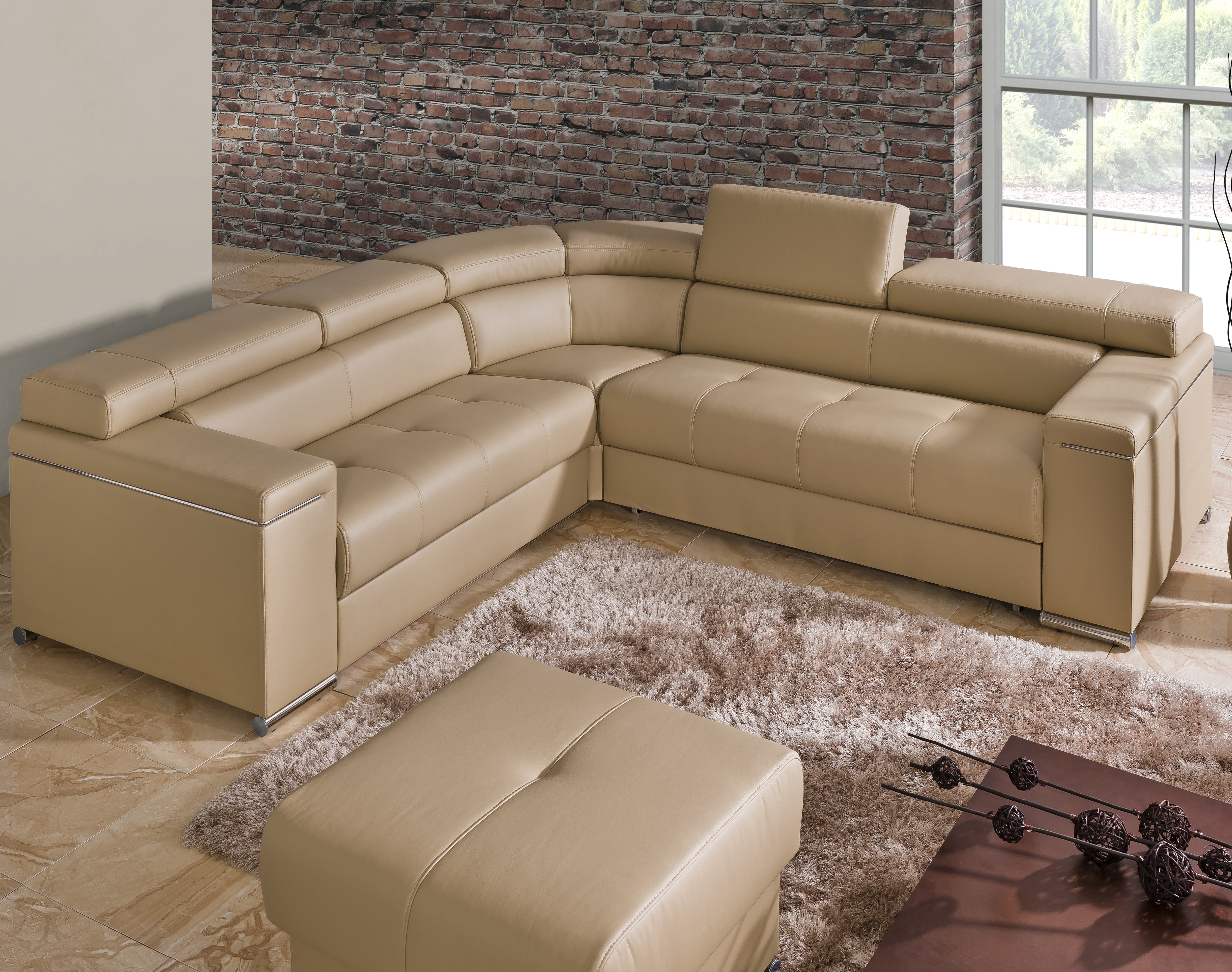 Blaine 4 Piece Sectionals Inside Popular The Collection German Furniture Sleeper Sectional (View 16 of 20)