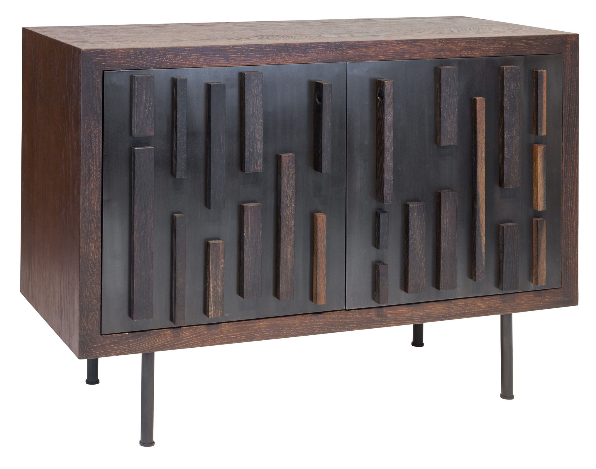 Featured Photo of Black Oak Wood And Wrought Iron Sideboards