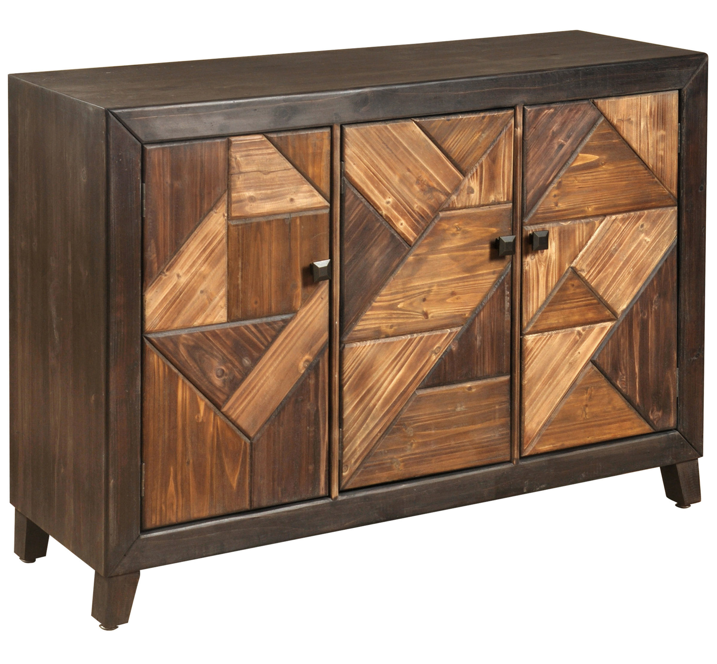 Bloomsbury Market Desirat Chevron Patterned 3 Door Server & Reviews With Regard To Widely Used Brown Chevron 4 Door Sideboards (View 4 of 20)