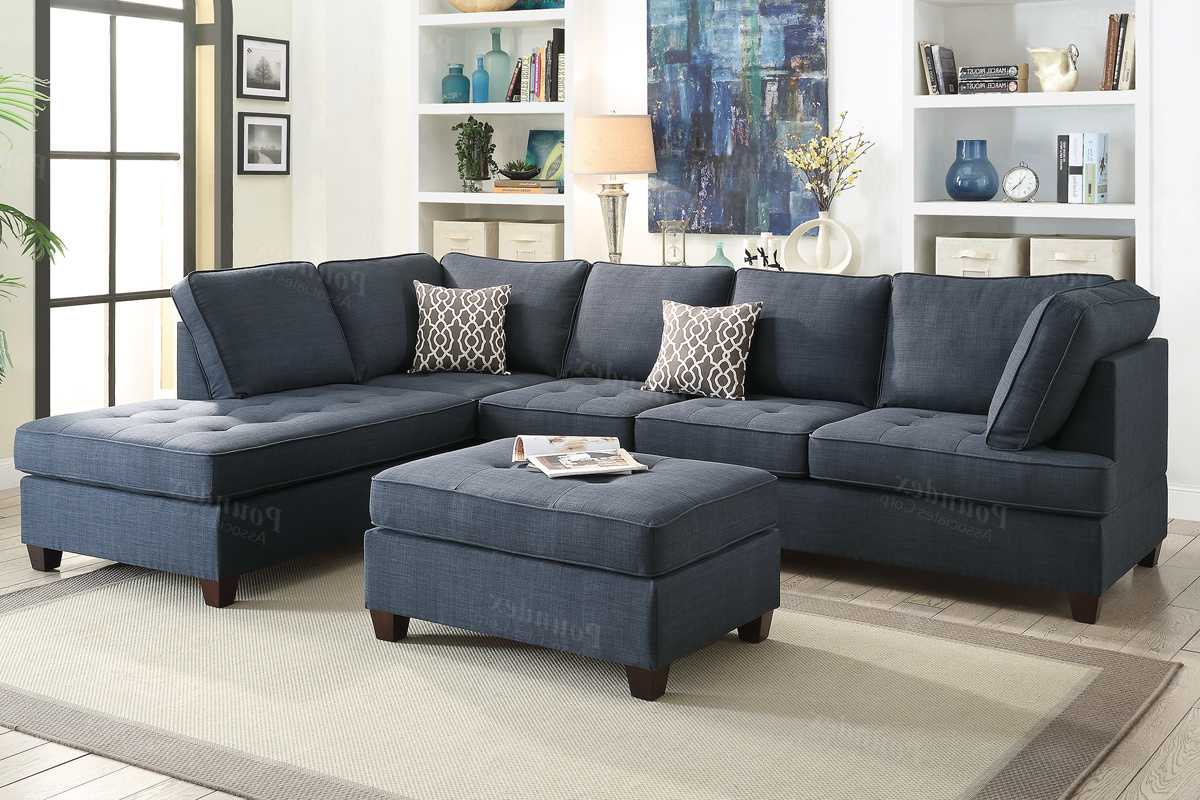 Blue Sectional Sofa Fabric Steal A Furniture Outlet Los Ashley Within Most Up To Date Benton 4 Piece Sectionals (View 6 of 20)