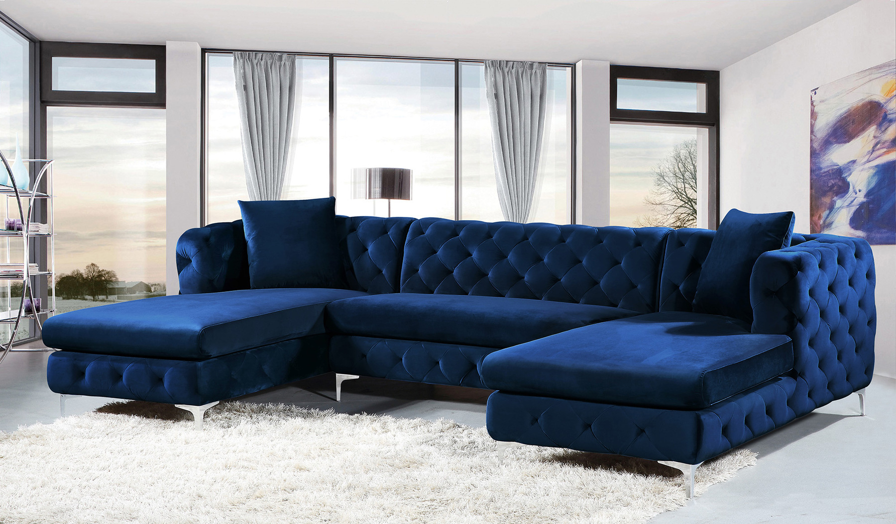 Blue Sectional Sofa Modular Sofas For Small Spaces Ashley Benton Pertaining To 2019 Benton 4 Piece Sectionals (View 3 of 20)