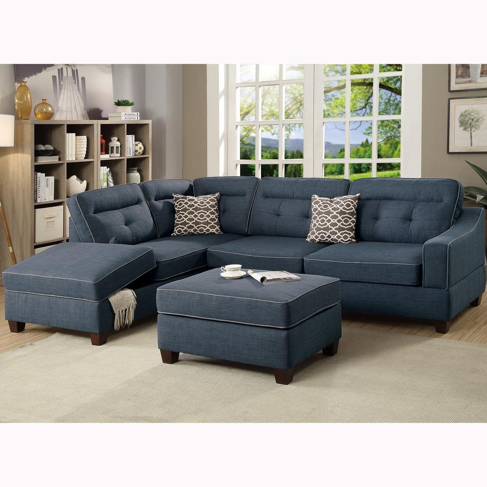Blue Sectional Sofa Modular Sofas For Small Spaces Ashley Benton Pertaining To Trendy Benton 4 Piece Sectionals (View 9 of 20)