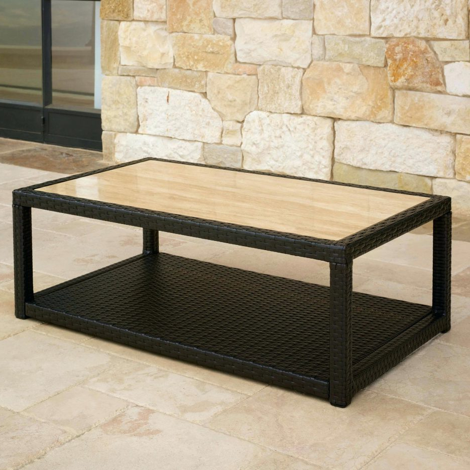Bluestone Rustic Black Coffee Tables Intended For 2019 Square Glass Coffee Table Bluestone Square Coffee Table White Stone (View 3 of 20)
