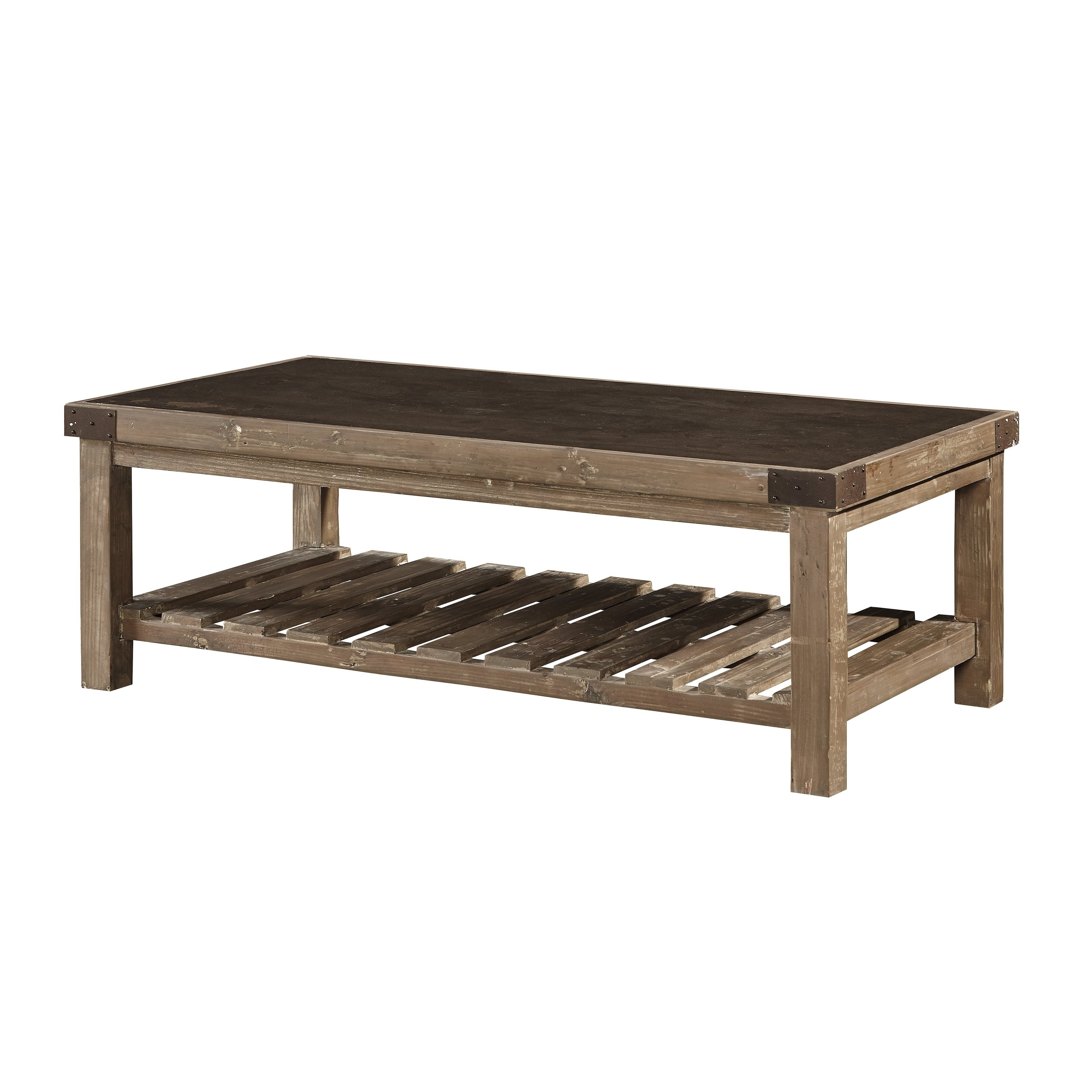 Featured Photo of Bluestone Rustic Black Coffee Tables