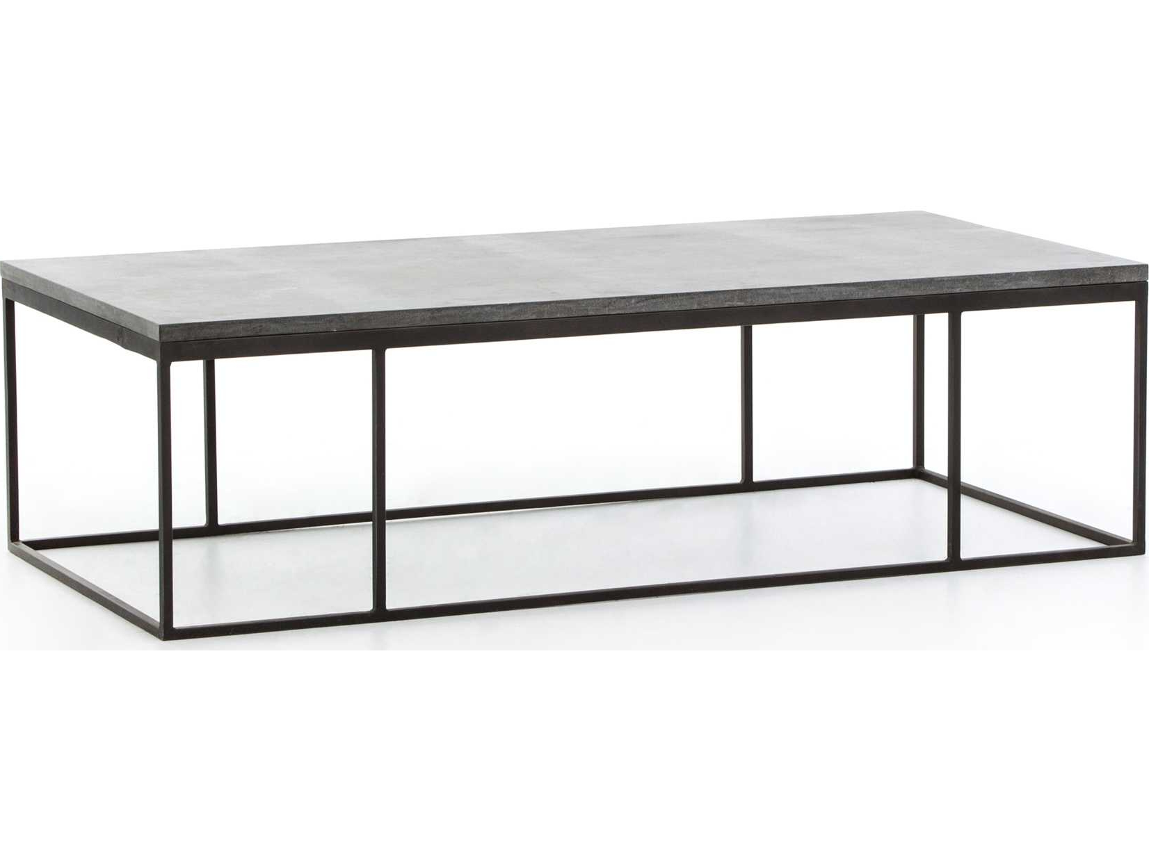 Bluestone Rustic Black Coffee Tables Within Favorite Four Hands Hughes Bluestone 60 X 28 Rectangular Harlow Small Coffee (View 7 of 20)