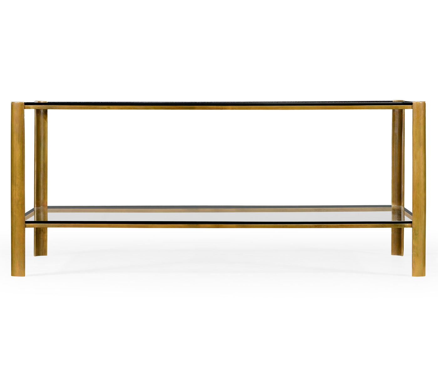 Brass & Glass Coffee Table With Well Known Rectangular Brass Finish And Glass Coffee Tables (View 13 of 20)