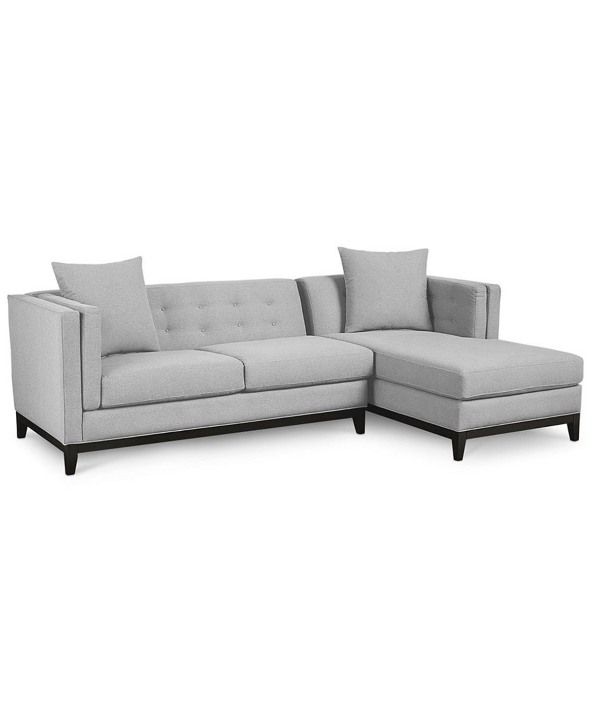 Braylei 2 Pc. Sectional With Chaise & 2 Toss Pillows, Only At Macy's With Regard To Most Popular Cohen Down 2 Piece Sectionals (Gallery 18 of 20)