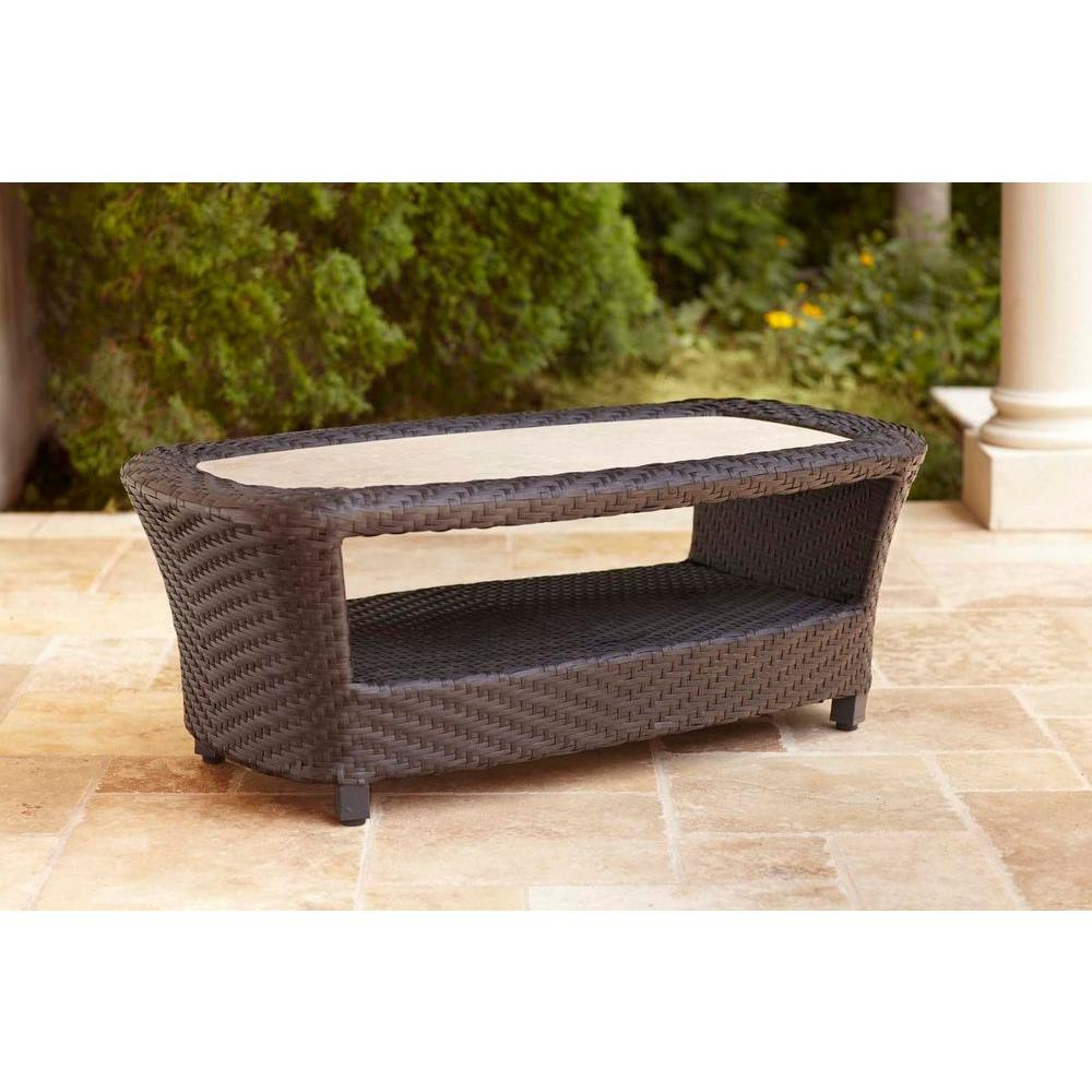 Brown Jordan – Outdoor Coffee Tables – Patio Tables – The Home Depot Throughout Best And Newest Jordan Cocktail Tables (View 2 of 20)