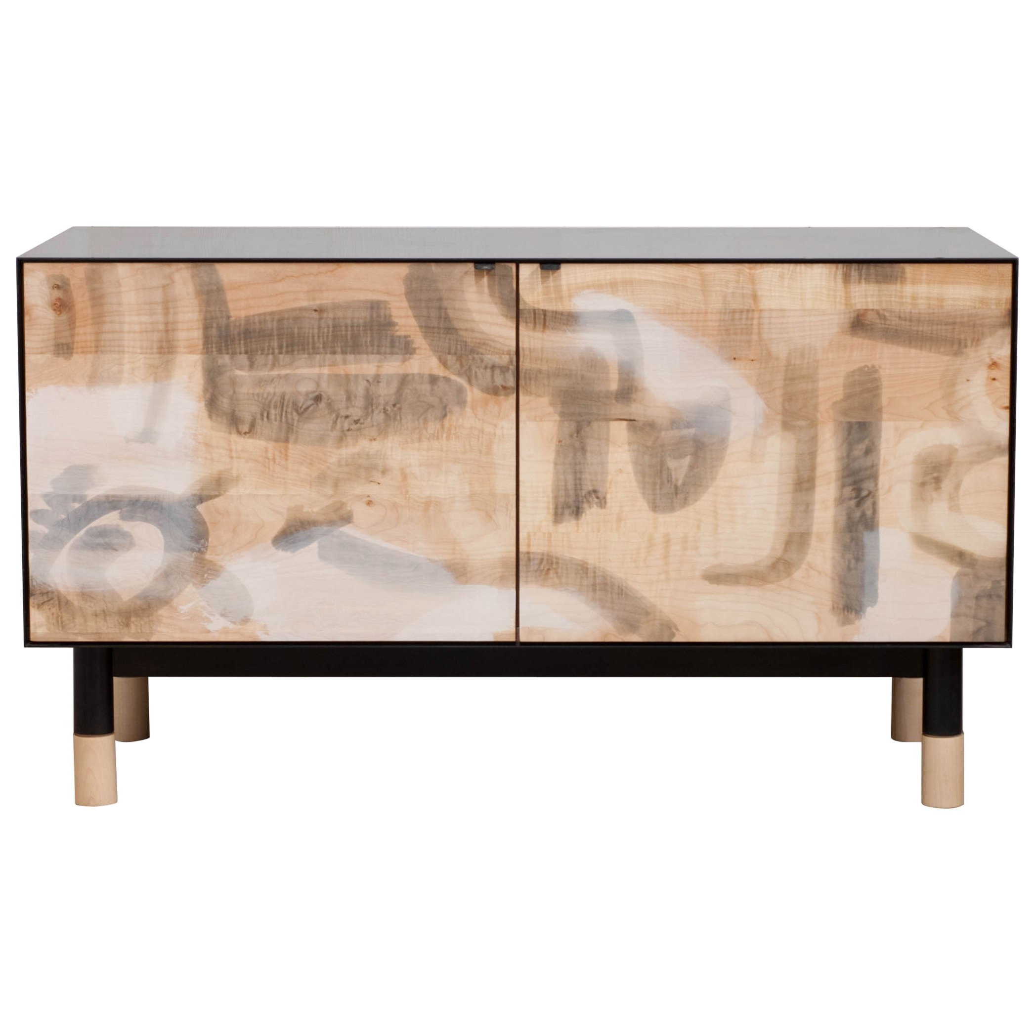 Burnt Tannin 4 Door Sideboards For Most Recent Painted Credenza With Blackened Steel Case For Sale At 1Stdibs (Gallery 2 of 20)