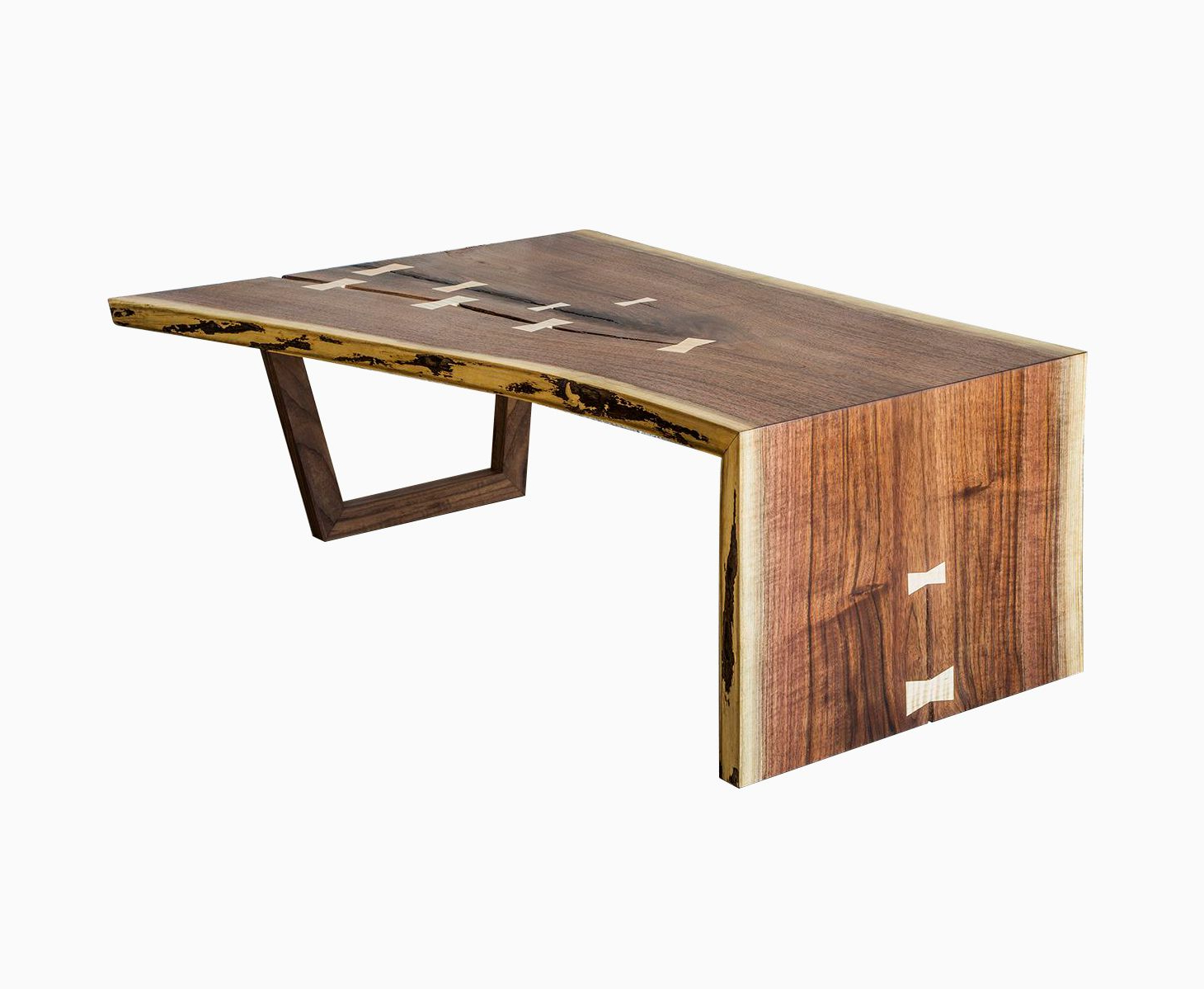 Buy A Hand Crafted Live Edge Walnut Waterfall Coffee Table, Made To With Regard To Latest Waterfall Coffee Tables (Gallery 3 of 20)