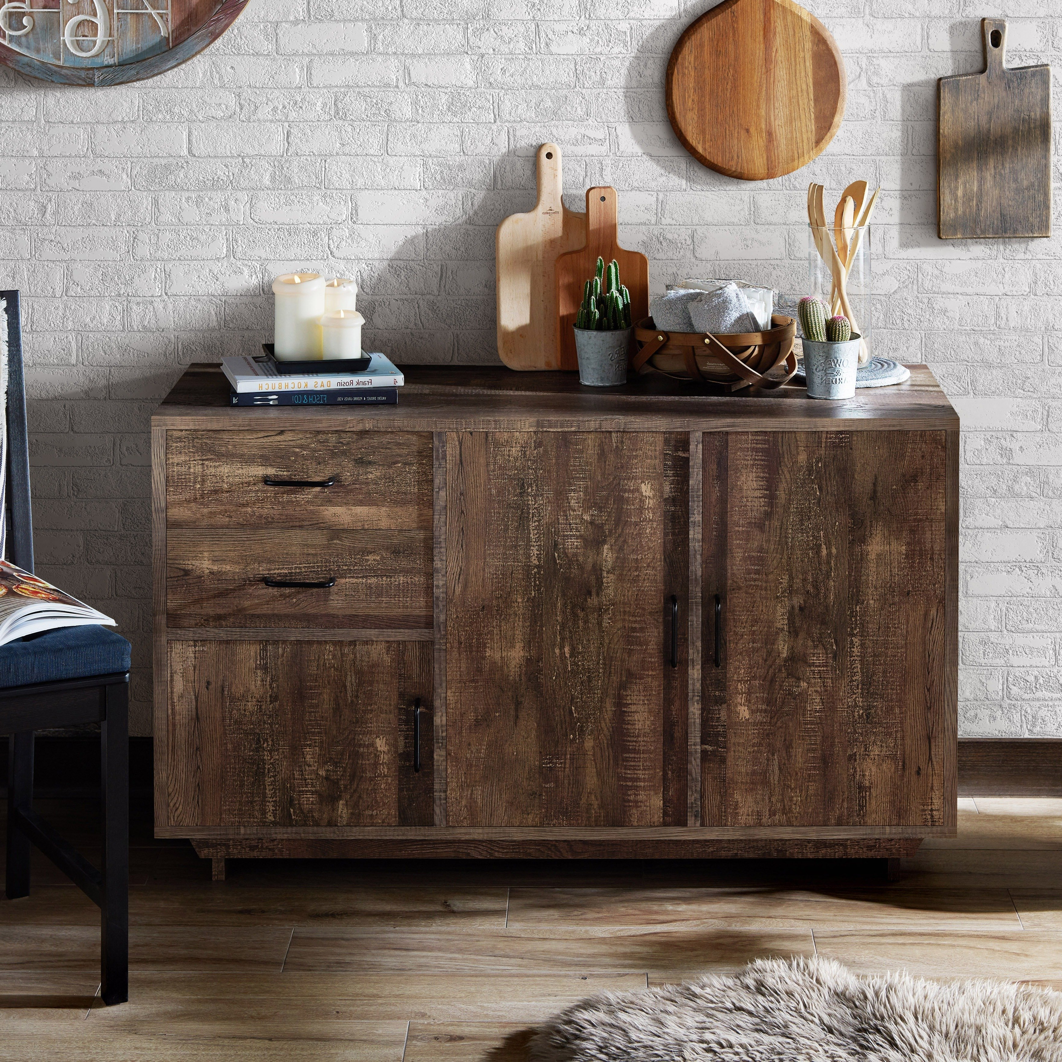 Buy Buffets, Sideboards & China Cabinets Online At Overstock Throughout Well Known Reclaimed 3 Drawer Icebox Sideboards (View 6 of 20)