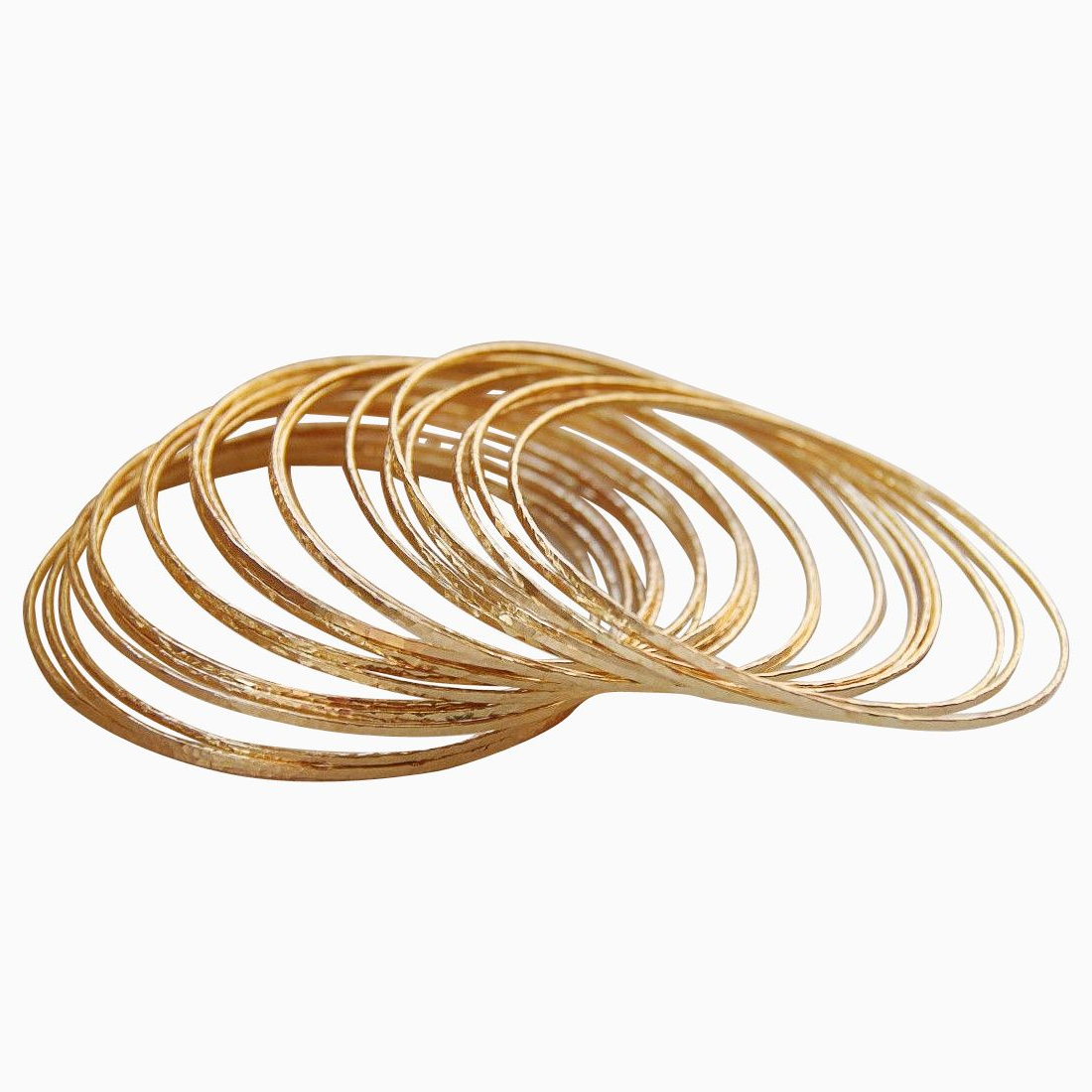 Buy Hand Crafted Set Of 5 Skinny 14K Gold Filled Hand Hammered Regarding 2019 Cuff Hammered Gold Coffee Tables (View 3 of 20)