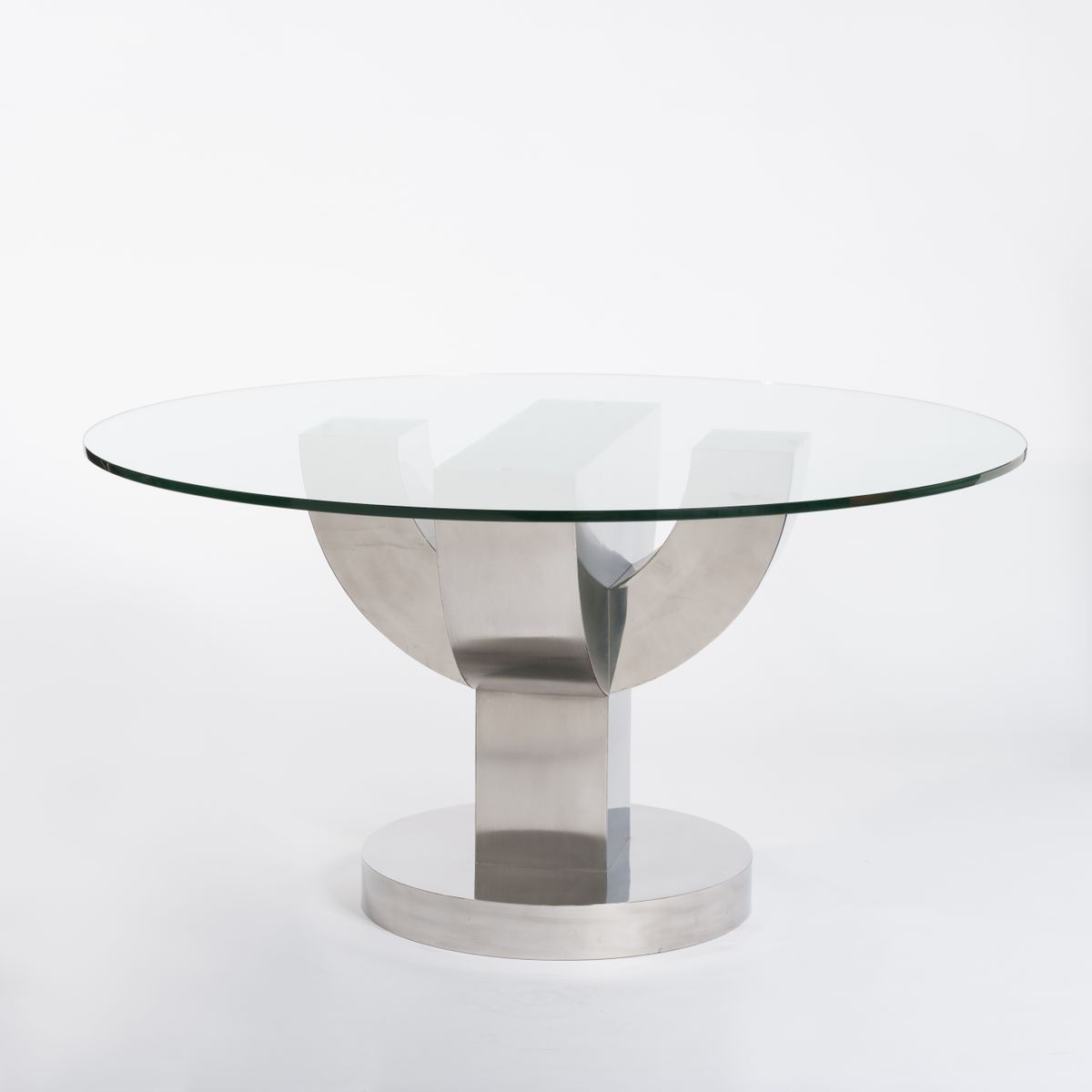 Cacti Brass Coffee Tables With Regard To Newest Round Mid Century Cactus Table With Stainless Steel & Glass, 1970S (View 4 of 20)